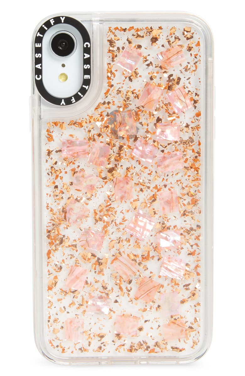 Casetify Mother Of Pearl Shimmering Grip Iphone X Xs Xr K Max