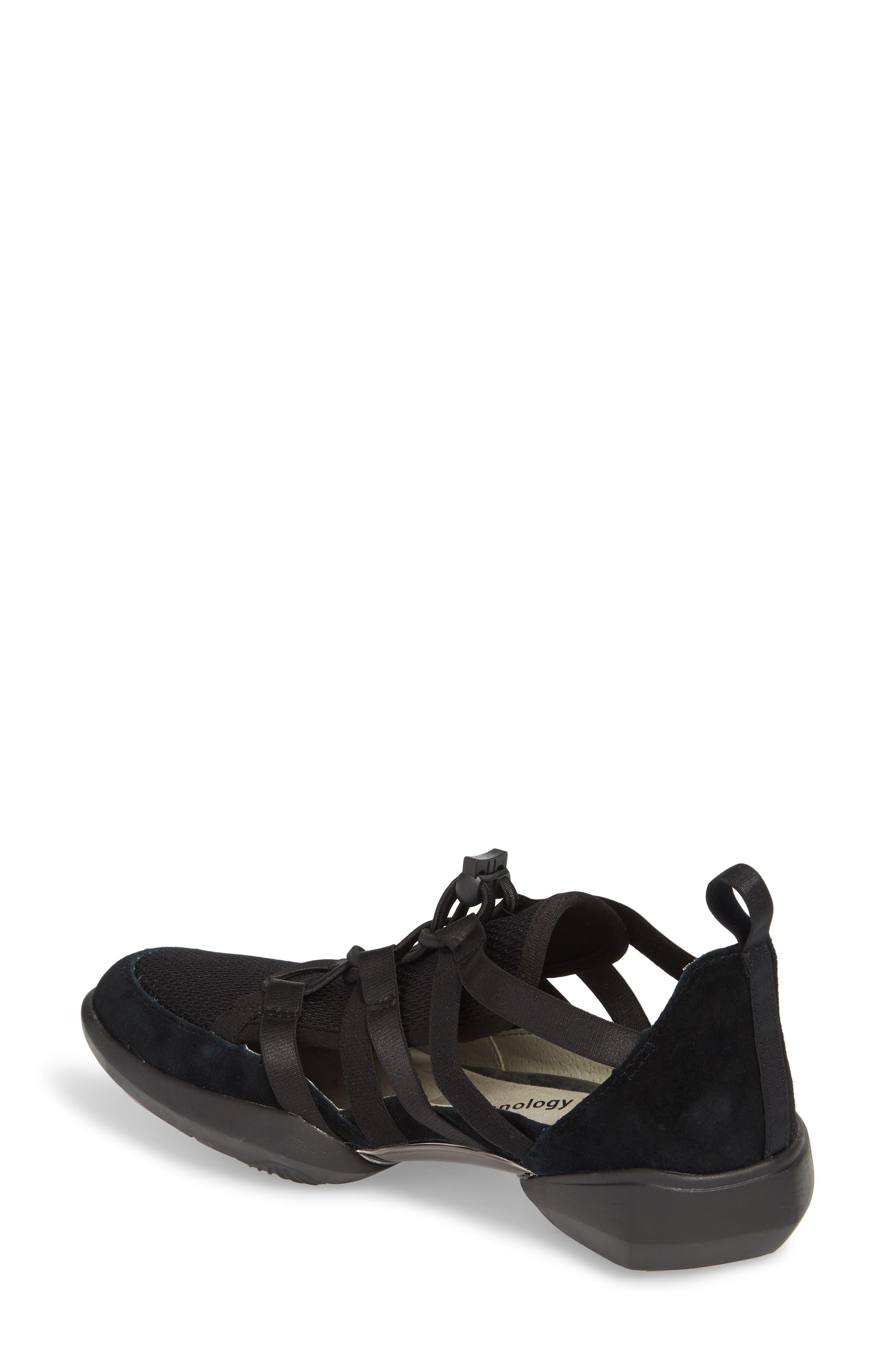 Azalea Sneaker,                             Alternate thumbnail 2, color,                             BLACK SUEDE