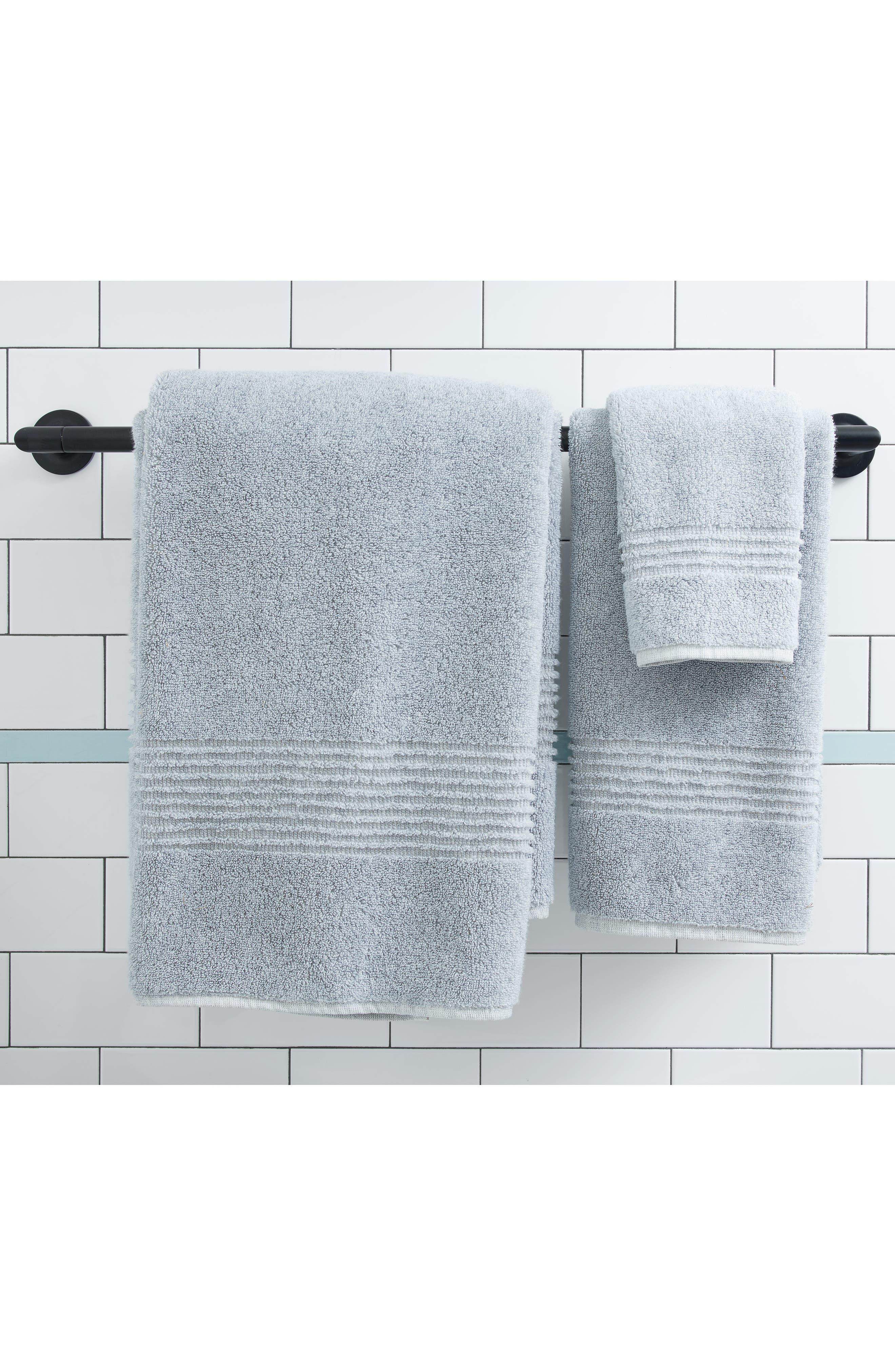 Organic Hydrocotton Heathered Bath Towel,                             Alternate thumbnail 4, color,                             100