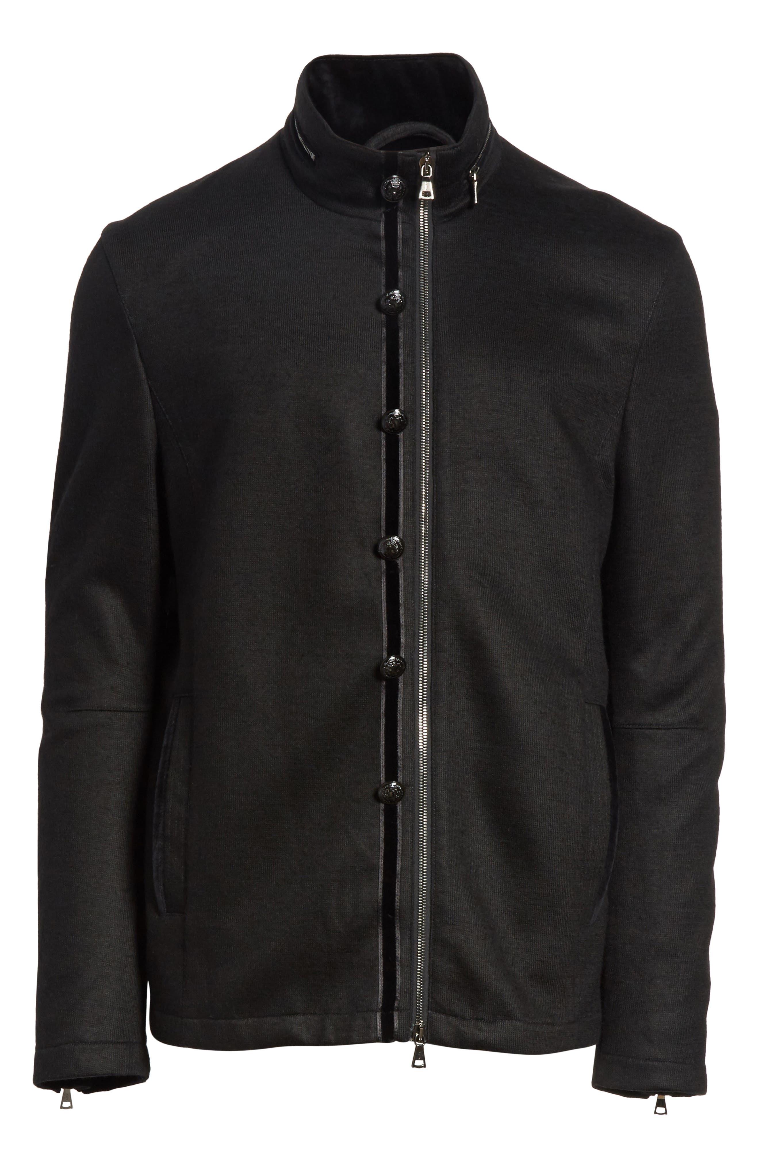 Cotton & Wool Jacket,                             Alternate thumbnail 5, color,                             001