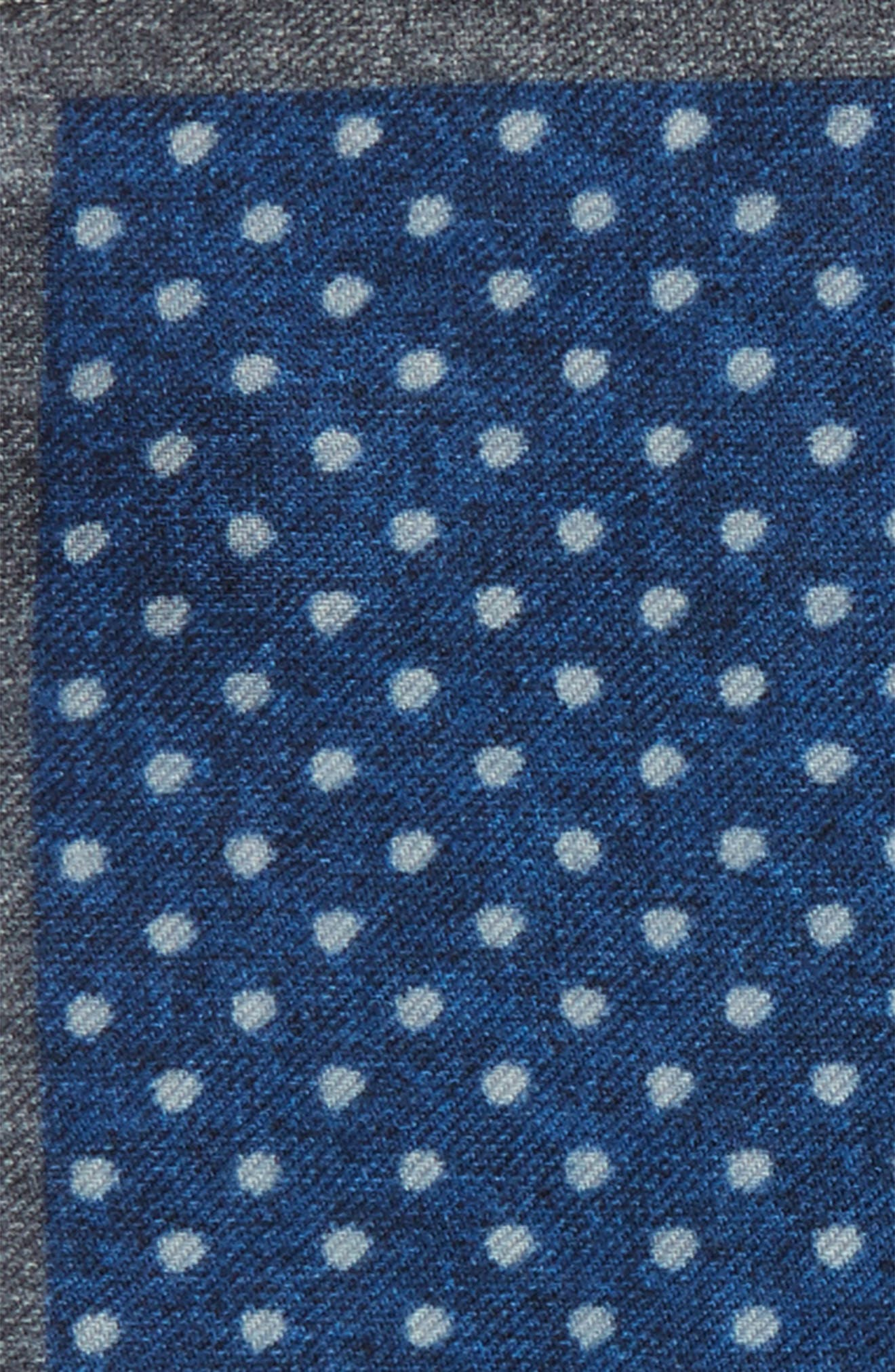 Dot Wool Pocket Square,                             Alternate thumbnail 3, color,                             489