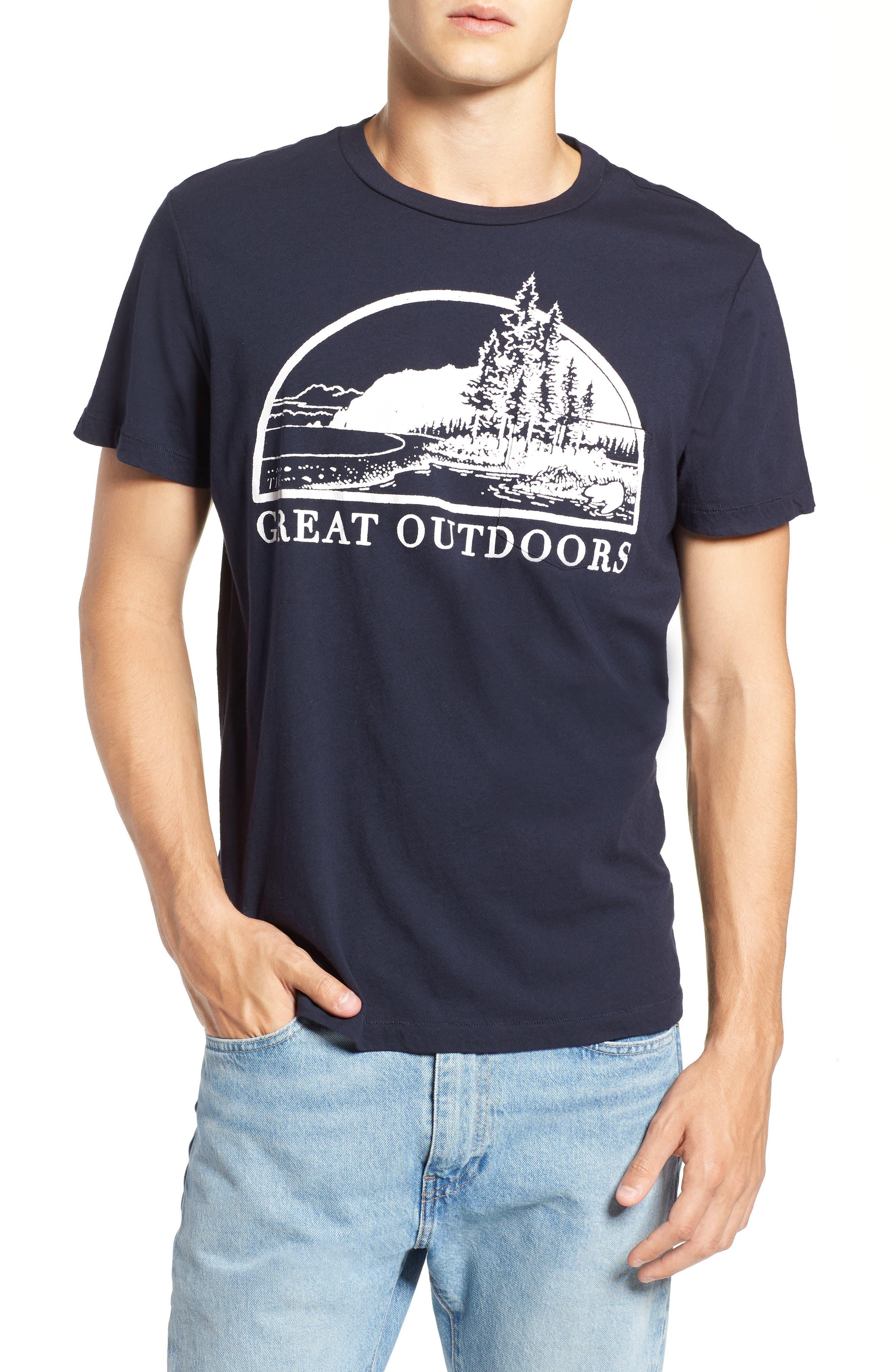 Great Outdoors Pocket T-Shirt,                             Main thumbnail 1, color,                             INDIGO