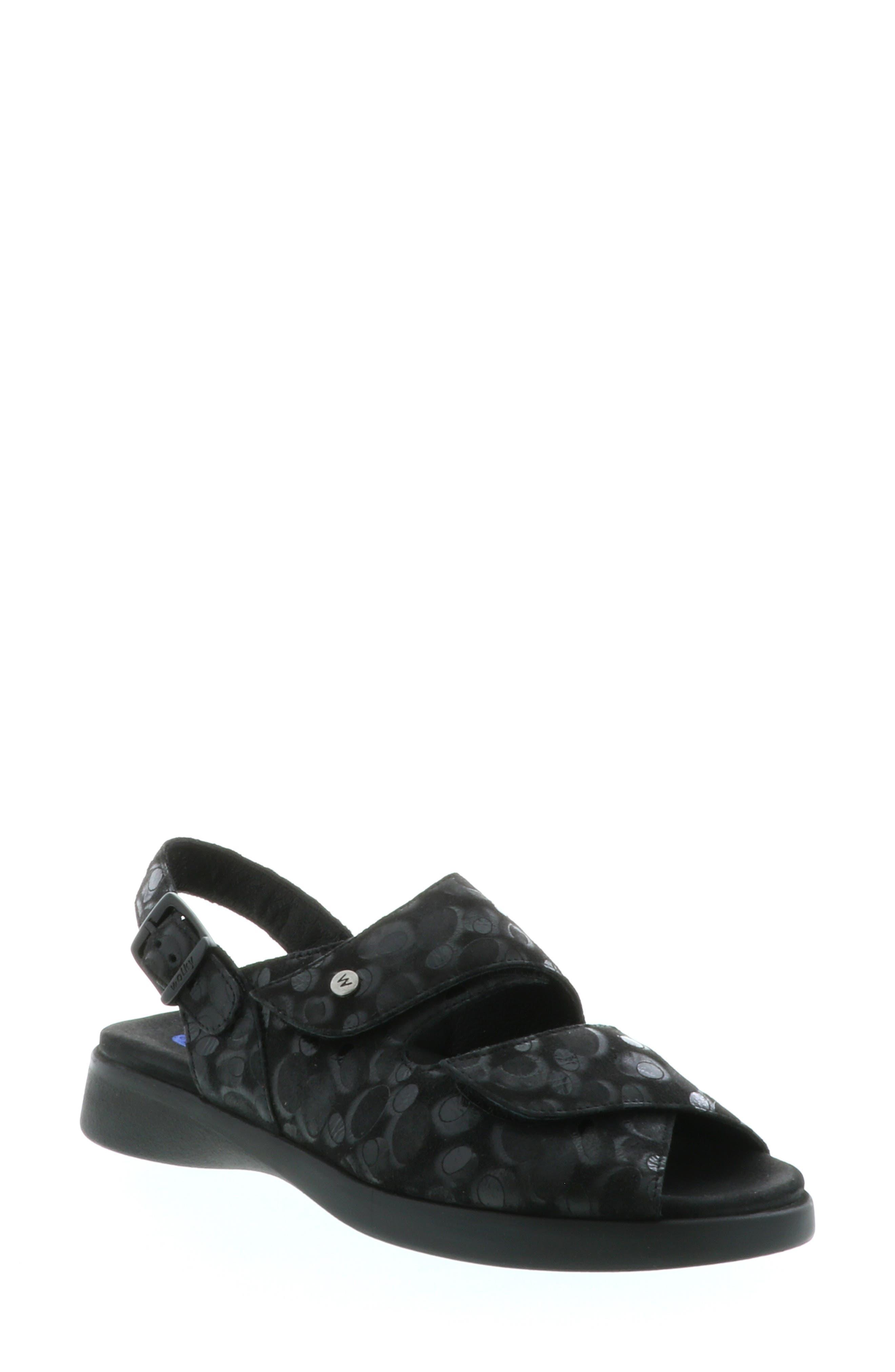Nimes Sandal,                             Main thumbnail 1, color,                             BLACK