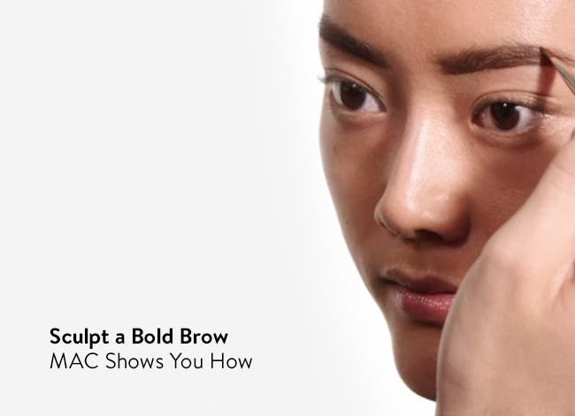 Sculpt a bold brow: MAC shows you how.
