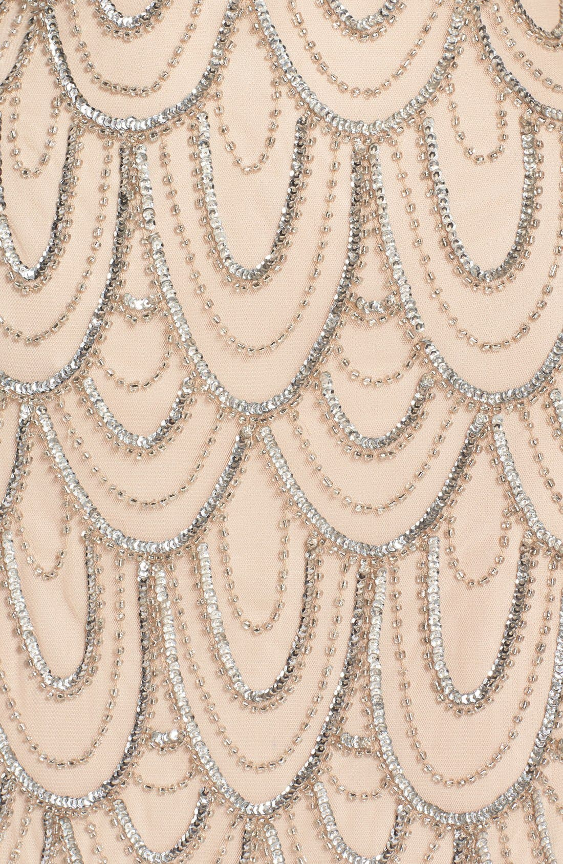 Embellished Mesh Sheath Dress,                             Alternate thumbnail 103, color,