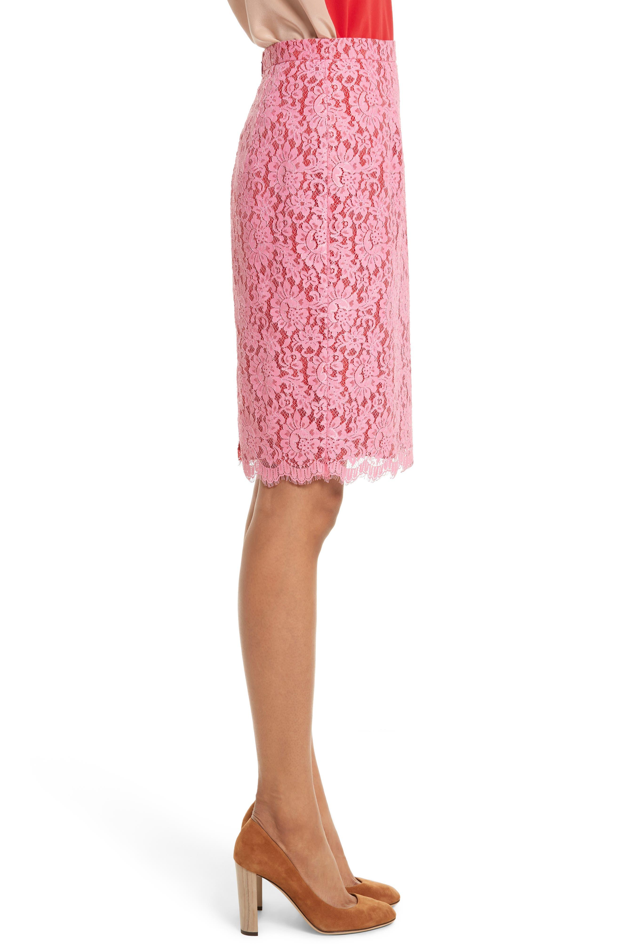 Lace Pencil Skirt,                             Alternate thumbnail 3, color,                             683