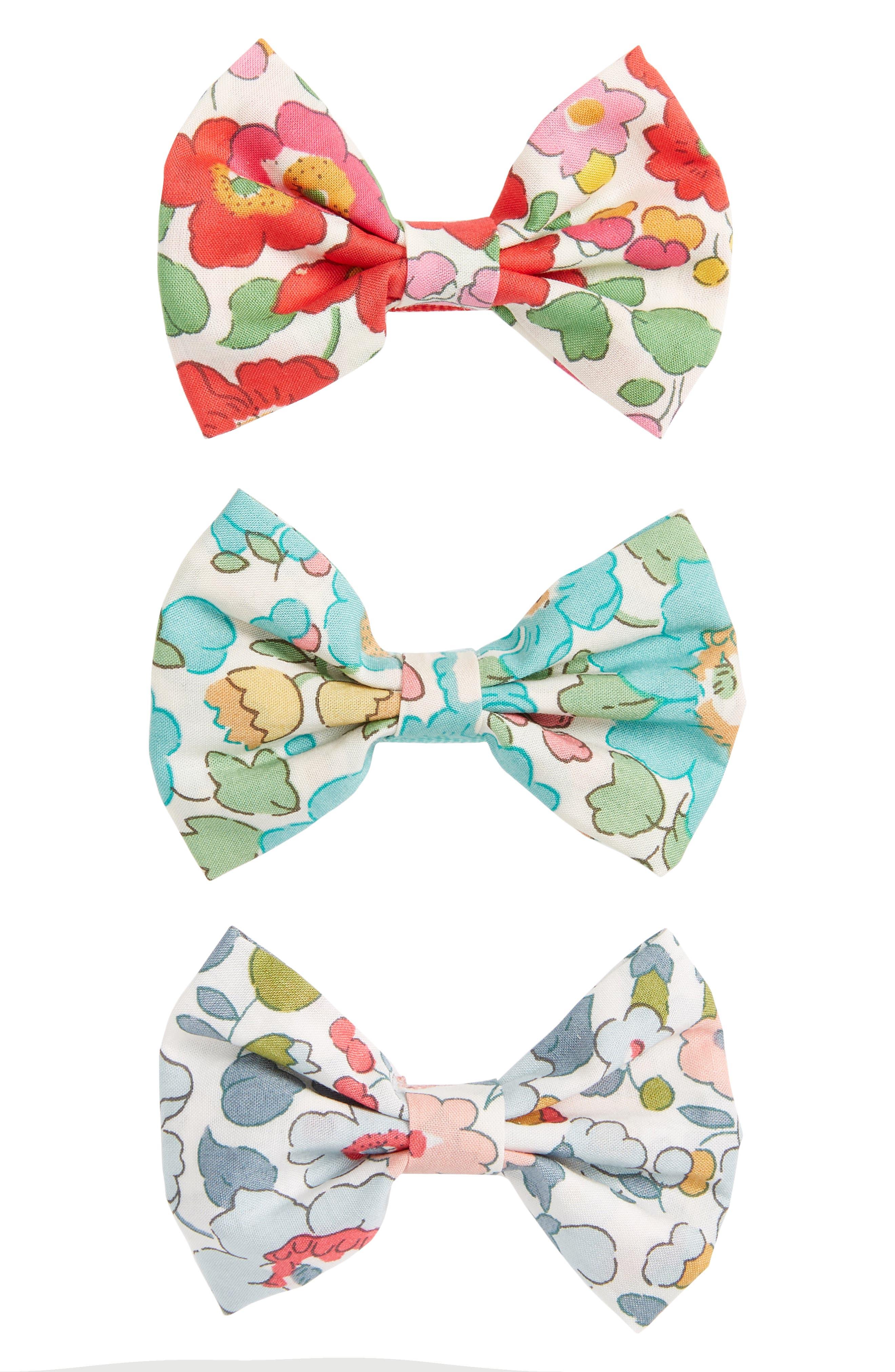 Betsy 3-Piece Bows Hair Clip Set,                         Main,                         color, 300