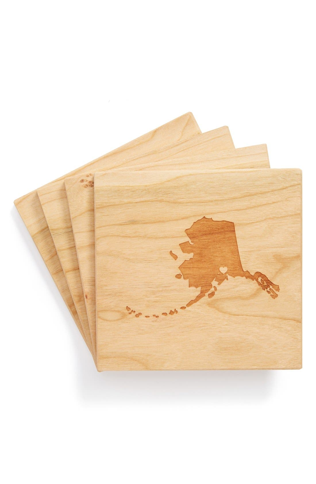 'State Silhouette' Coasters,                             Main thumbnail 23, color,