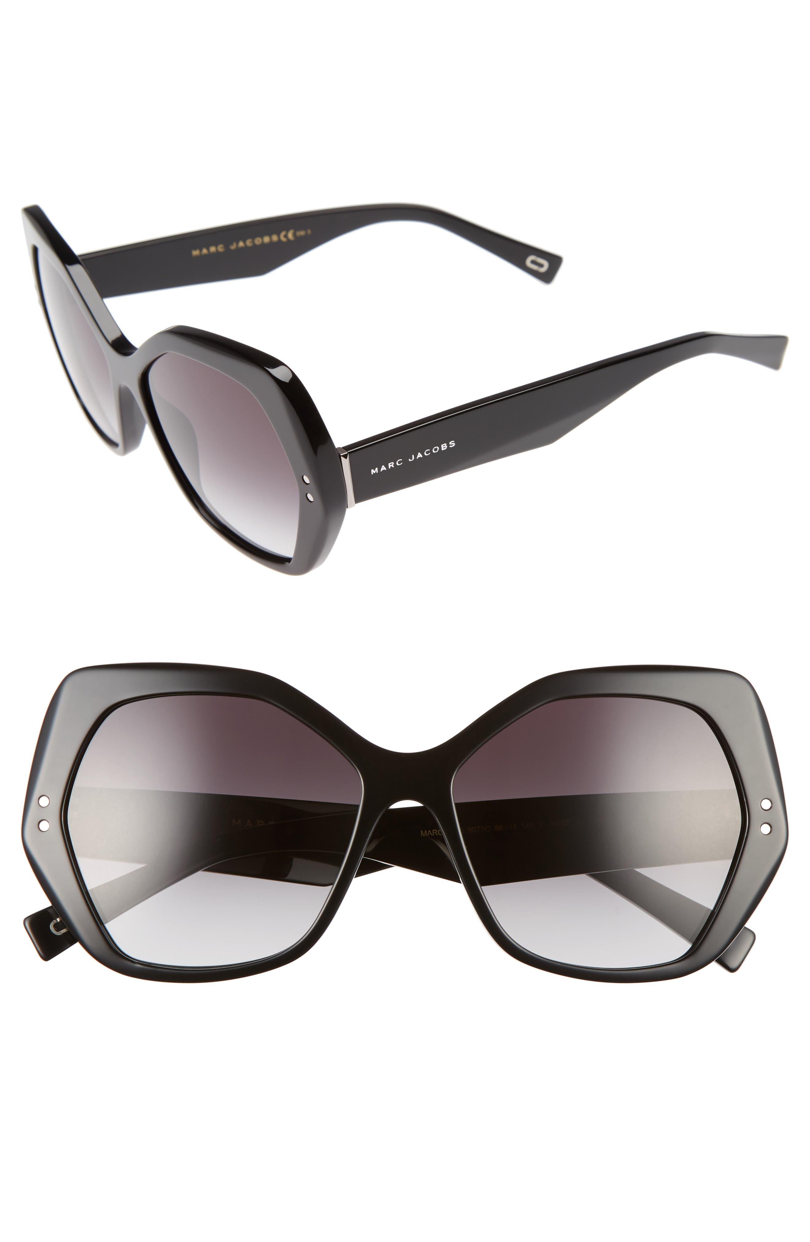 56mm Sunglasses,                         Main,                         color, 001