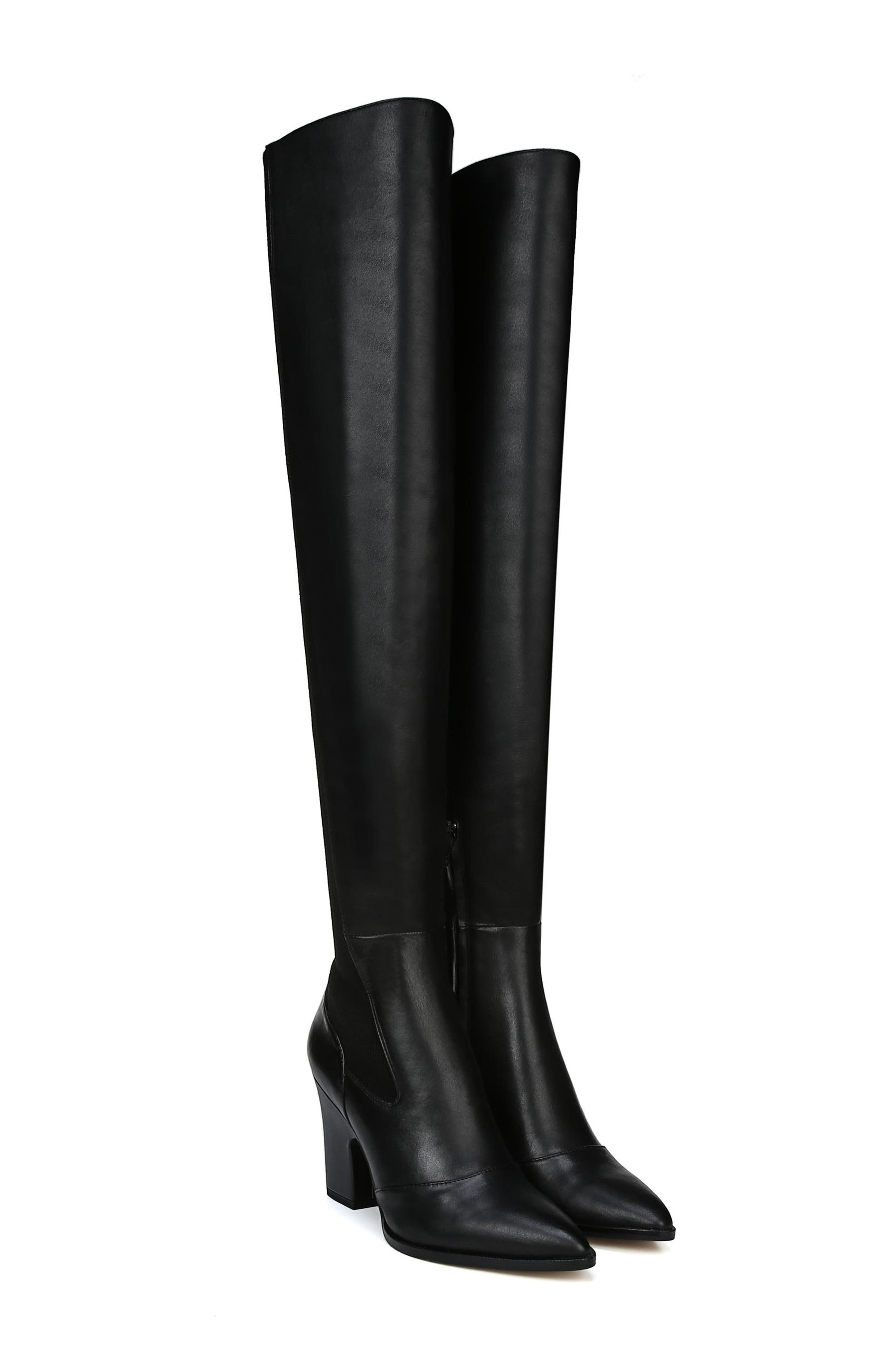Natasha Over the Knee Boot,                             Alternate thumbnail 9, color,                             BLACK LEATHER