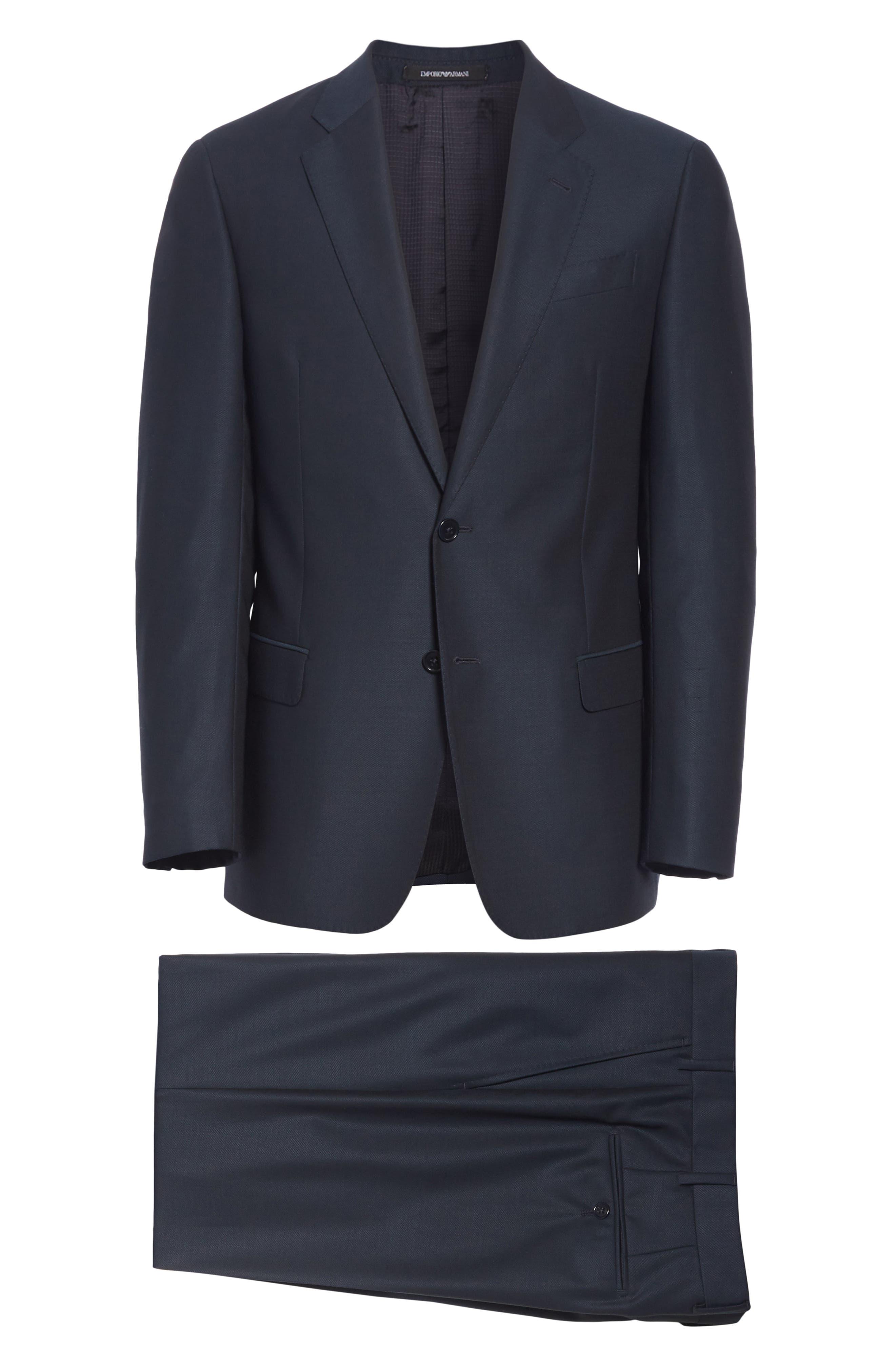 G-Line Trim Fit Solid Wool Suit,                             Alternate thumbnail 8, color,                             BLUE