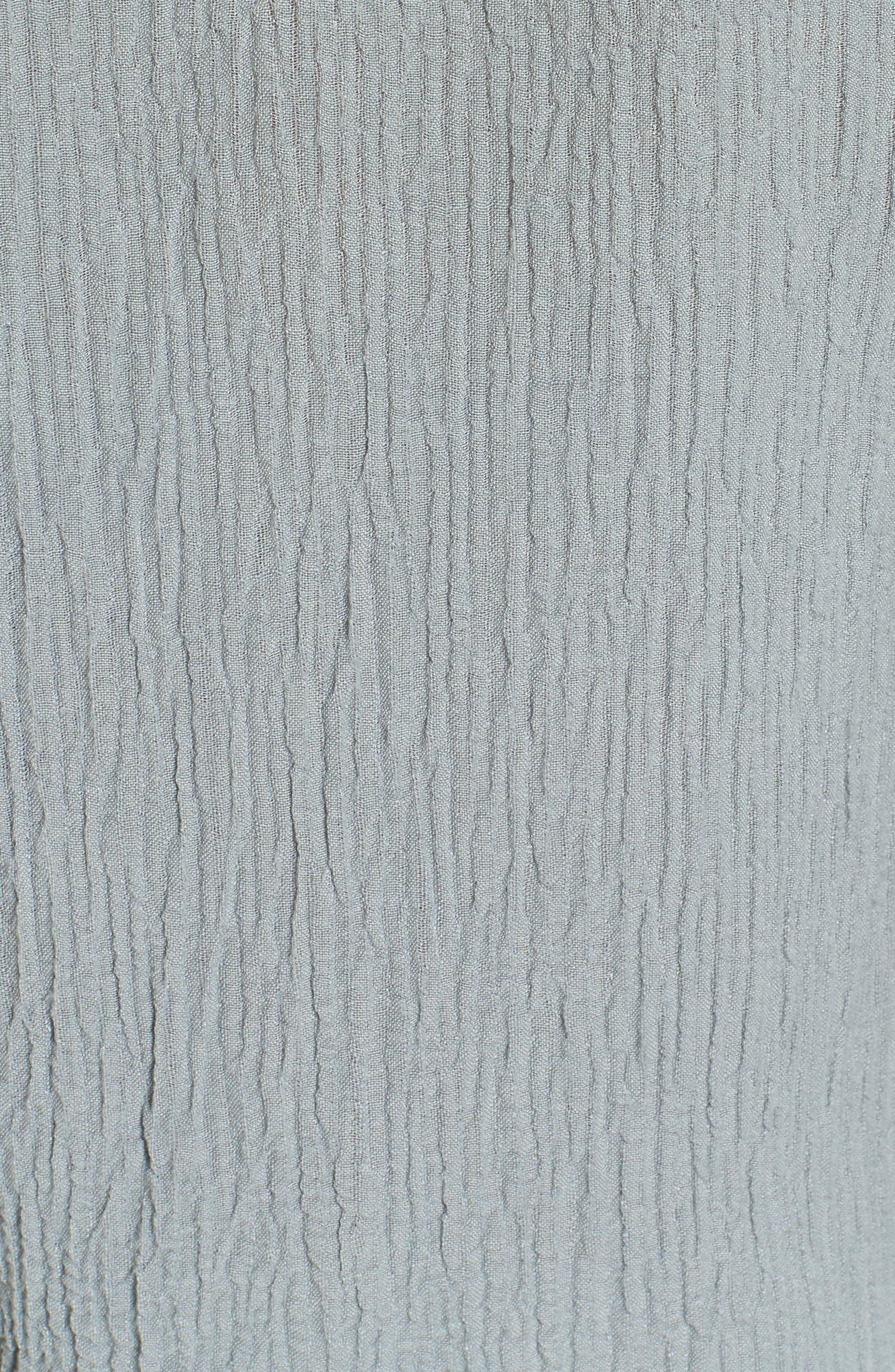 Tie Sleeve Linen Blend Blouse,                             Alternate thumbnail 5, color,