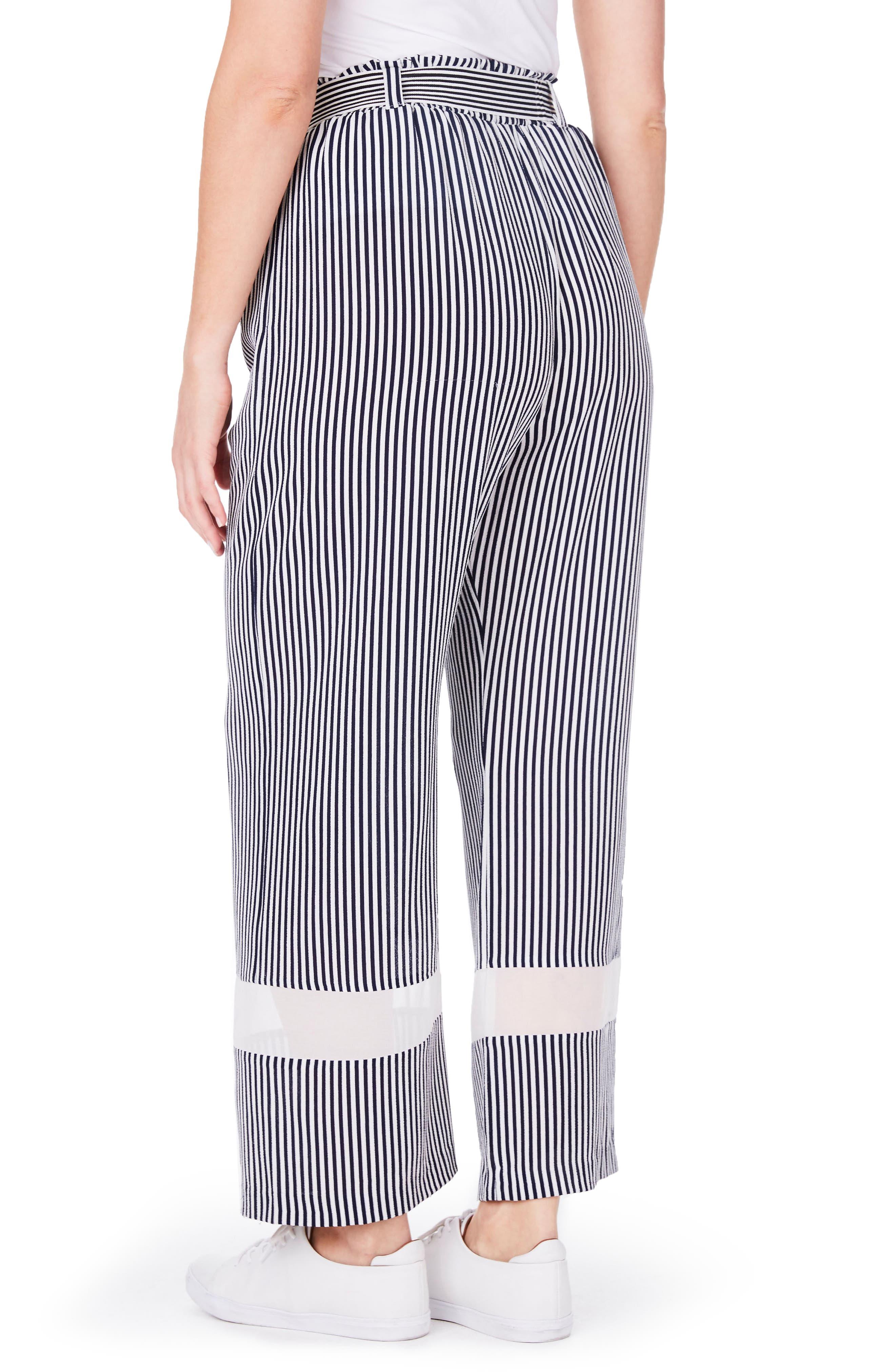 Stripe Wide Leg Trousers,                             Alternate thumbnail 2, color,