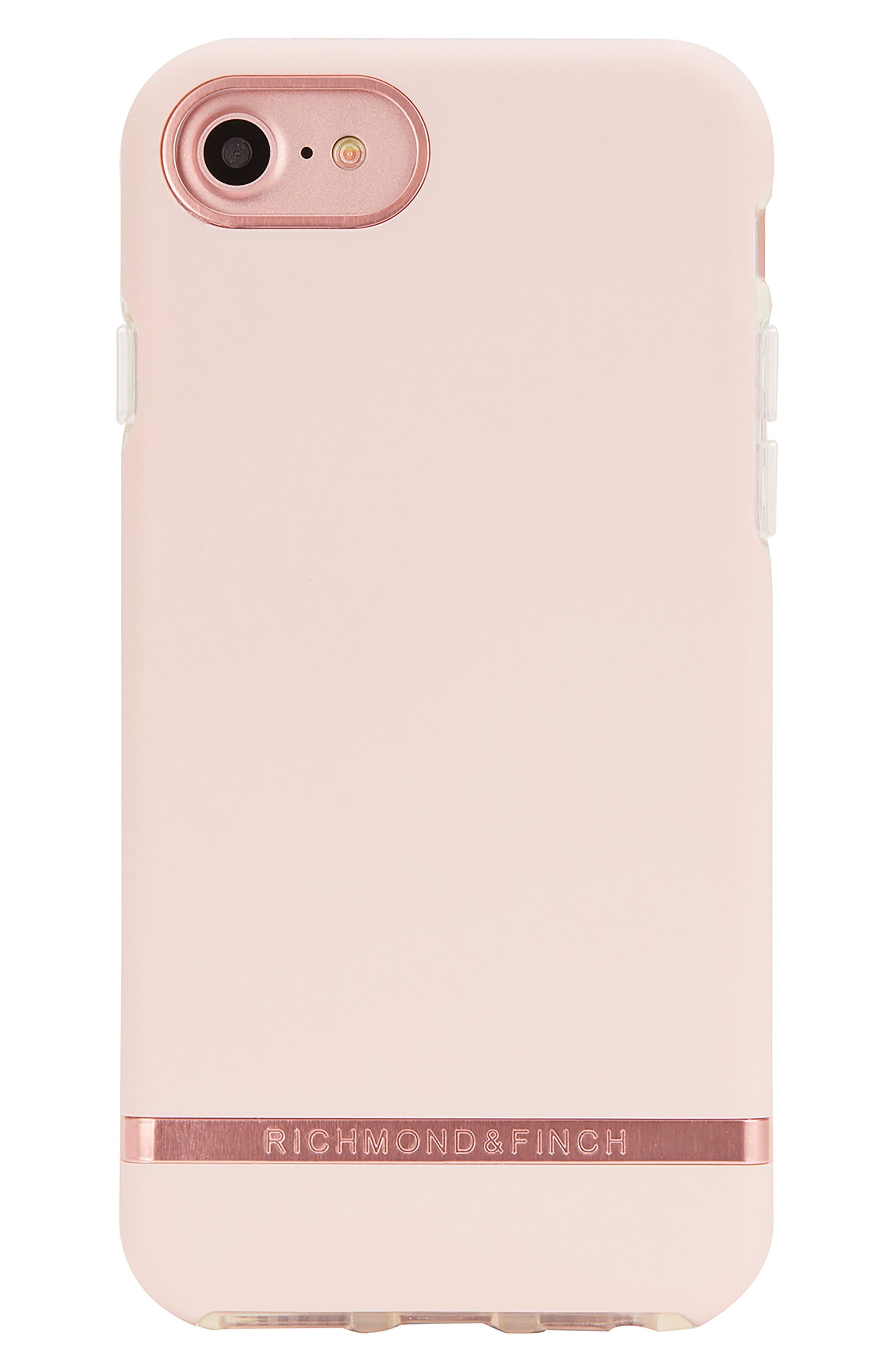 Richmond & Finch iPhone 6/6s/7/8 & 6/6s/7/8 Plus Case,                             Main thumbnail 1, color,                             PINK ROSE