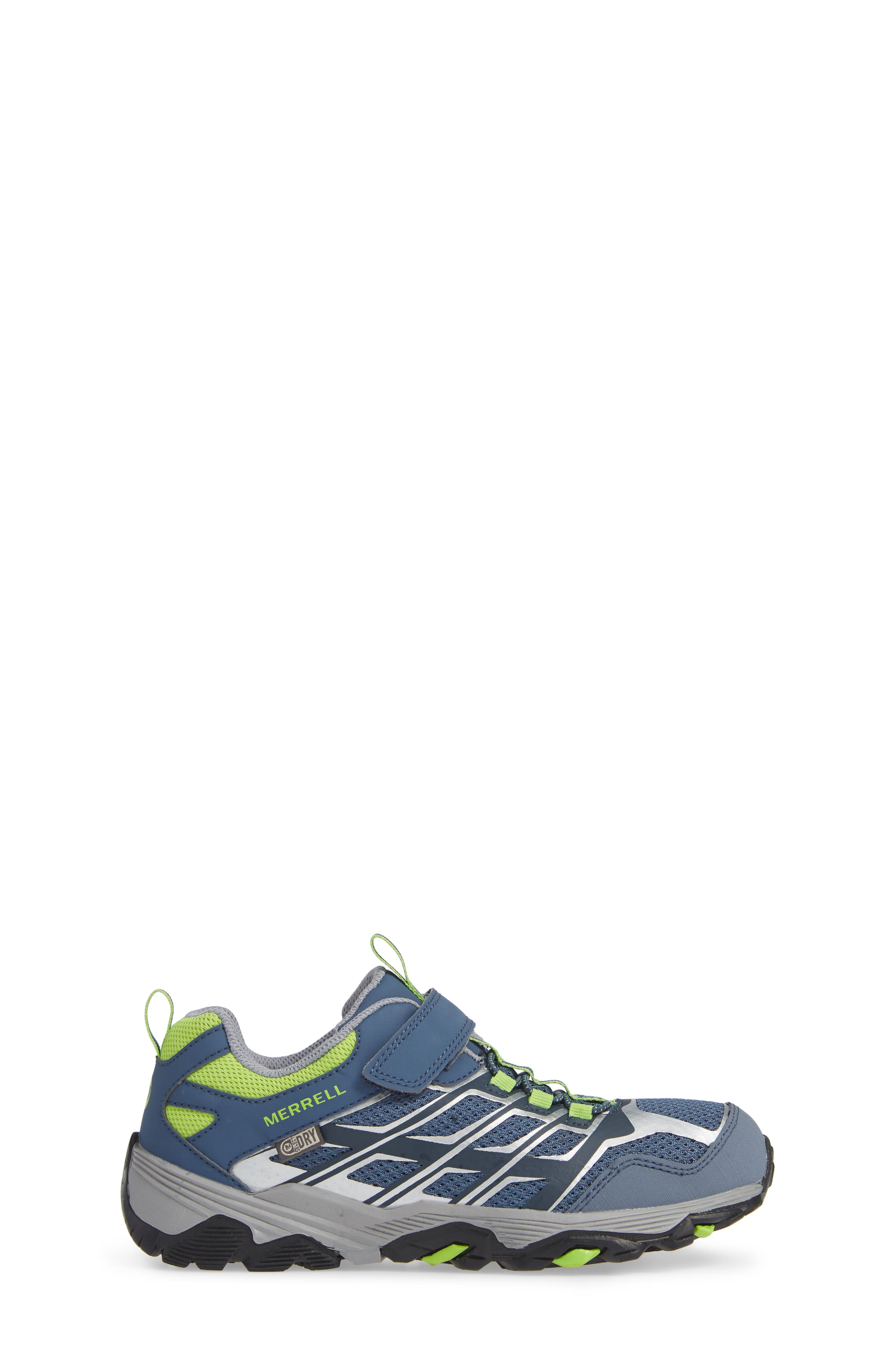 Moab FST Polar Low Waterproof Sneaker,                             Alternate thumbnail 3, color,                             GREY/ GREEN