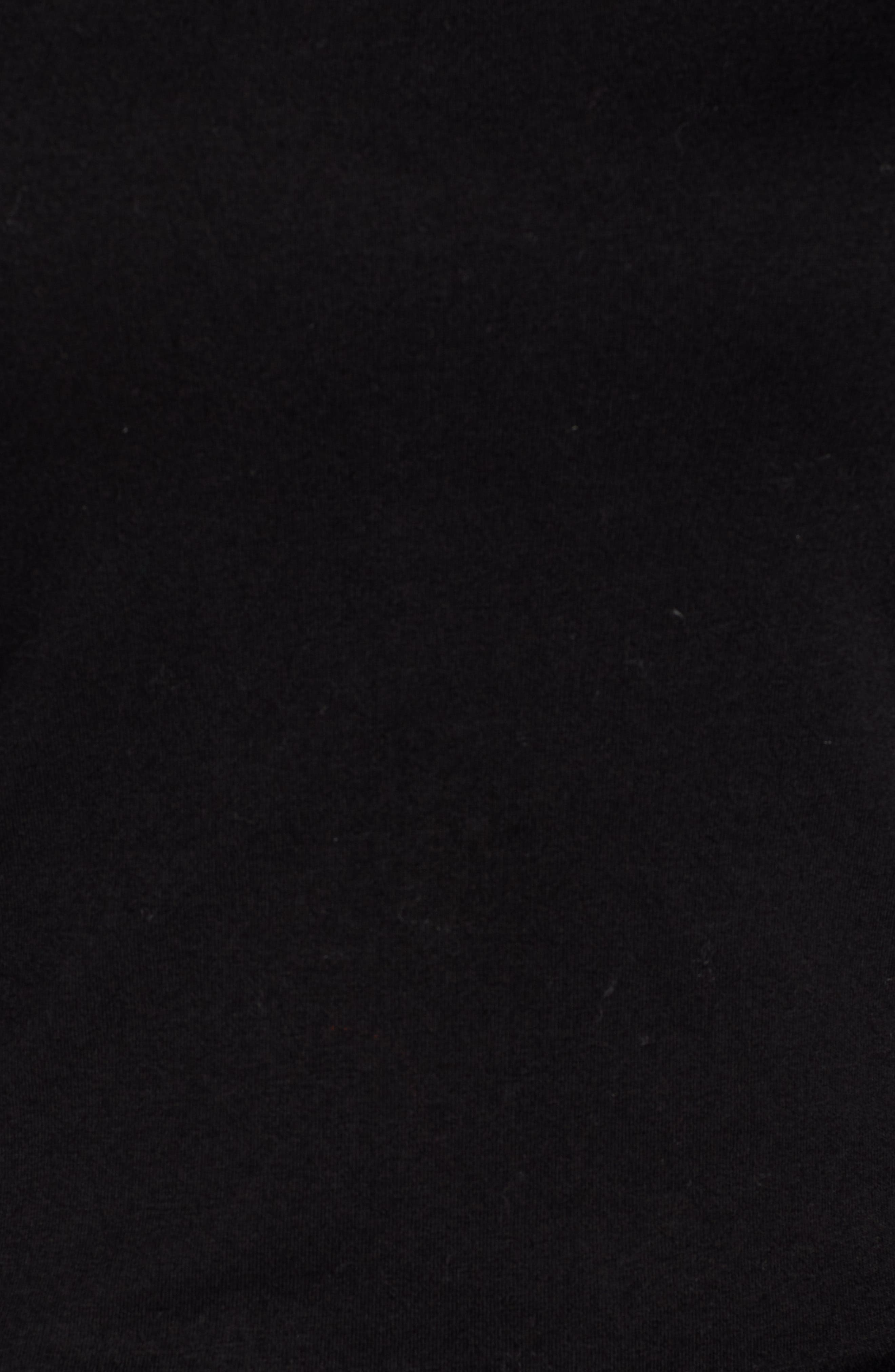 Bow Back Stretch Cotton Blend Turtleneck Top,                             Alternate thumbnail 5, color,                             001
