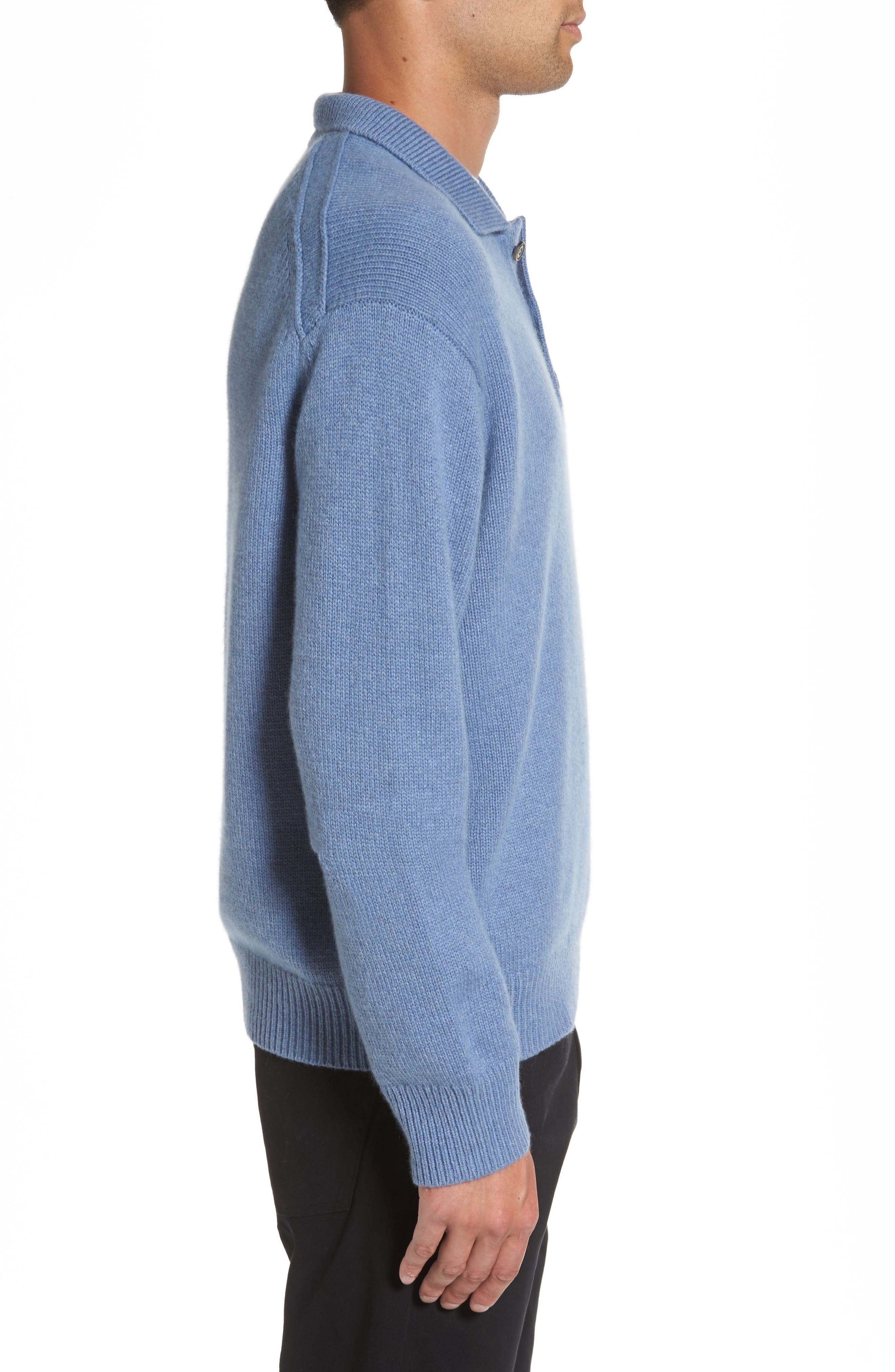 Wool & Cashmere Polo Sweater,                             Alternate thumbnail 3, color,                             495