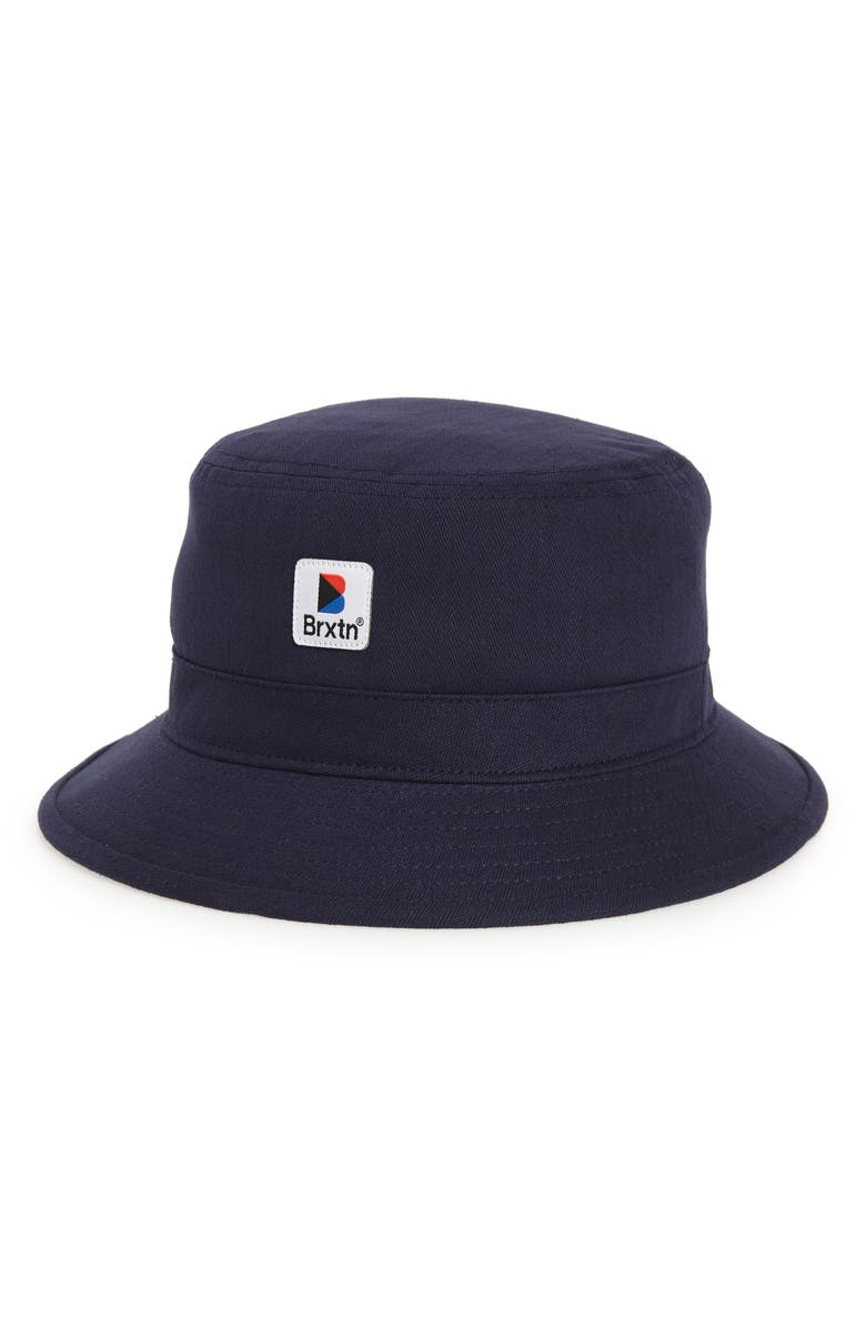 8939d7b4e81 A colorful logo patch brightens the crown of an easy-to-wear bucket hat cut  from sturdy herringbone-weave cotton. Style Name  Brixton Stowell Bucket Hat .