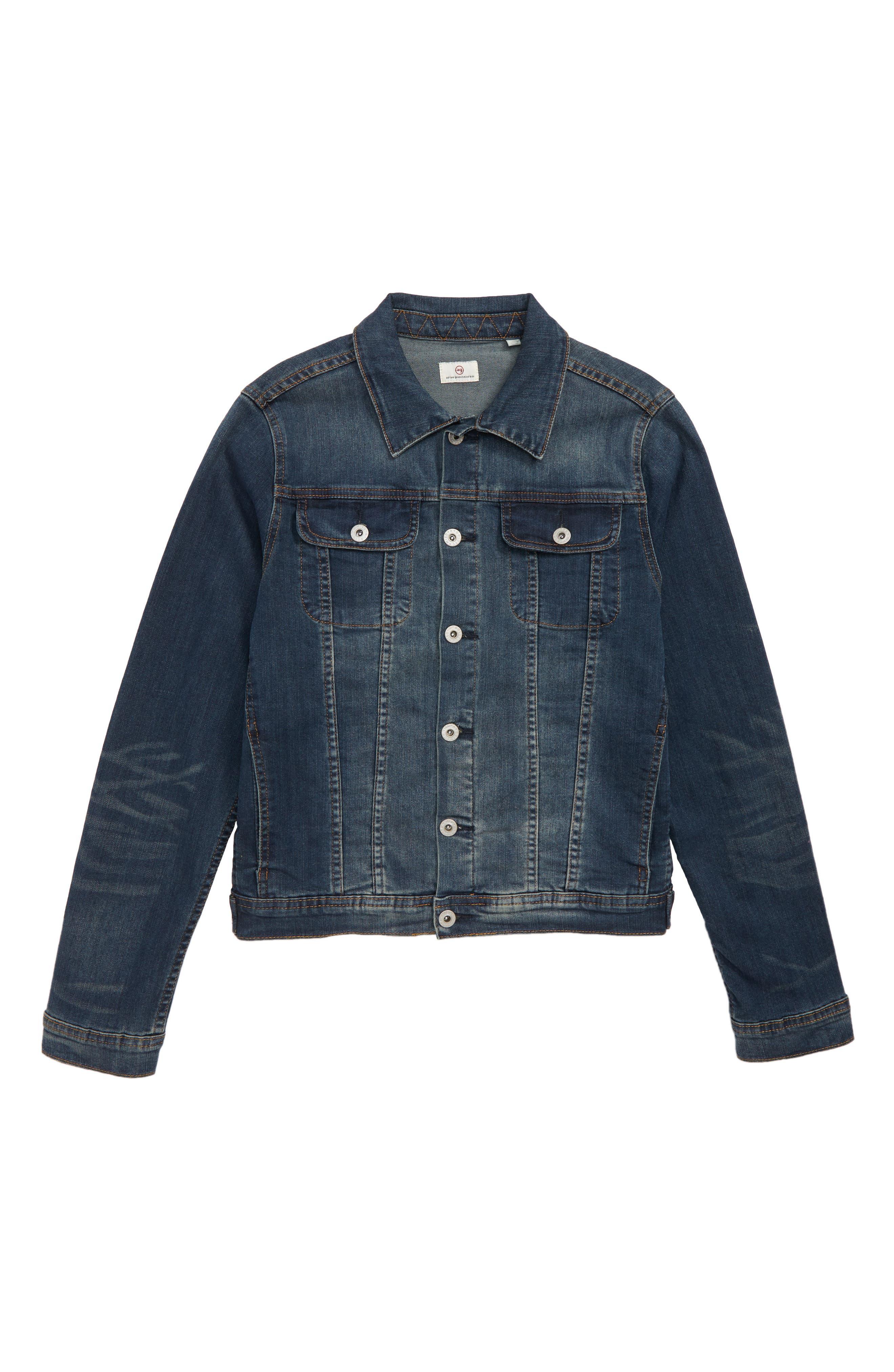 Denim Jacket,                         Main,                         color, RINSE USED