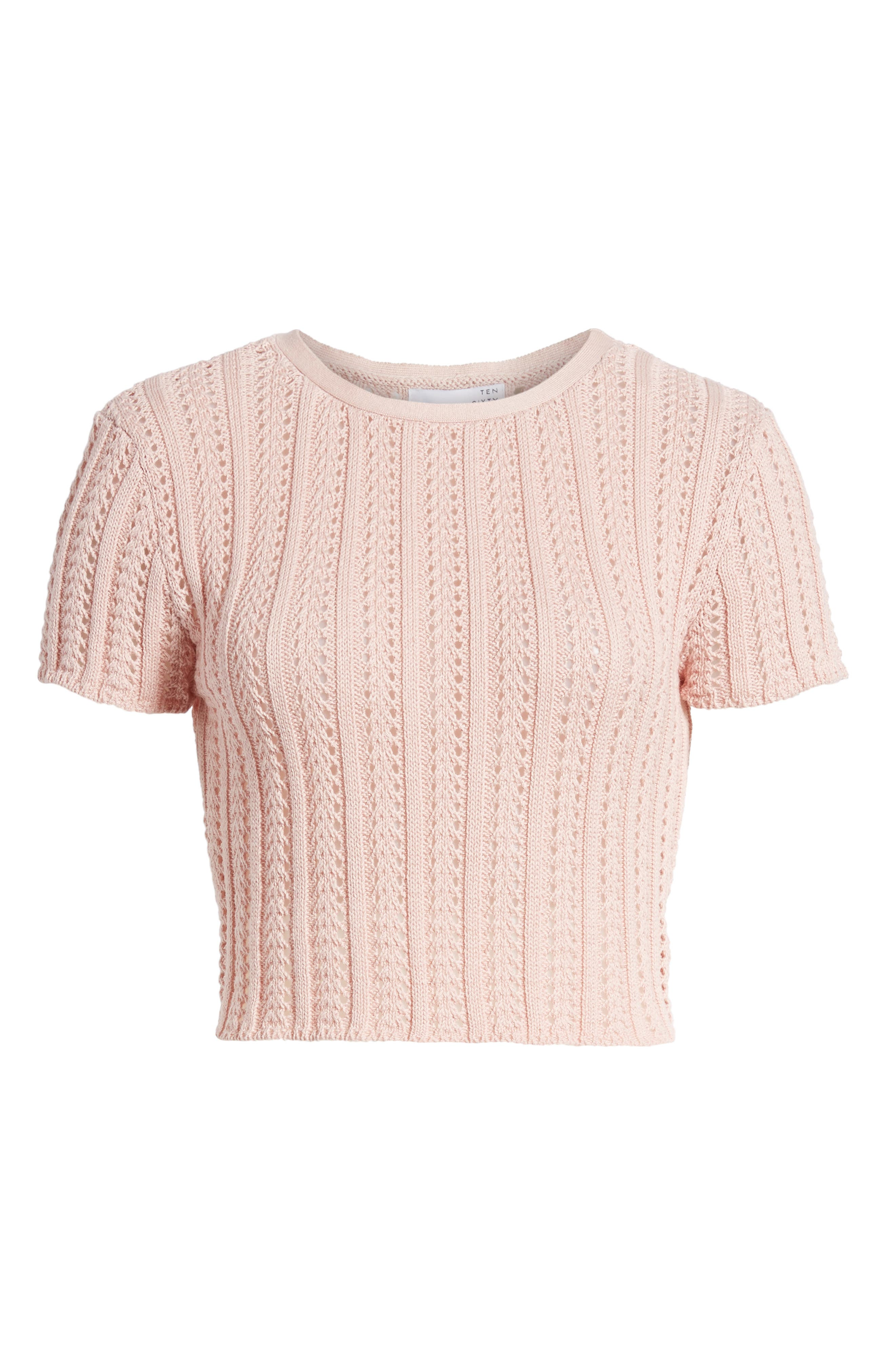 Crop Sweater,                             Alternate thumbnail 6, color,                             651