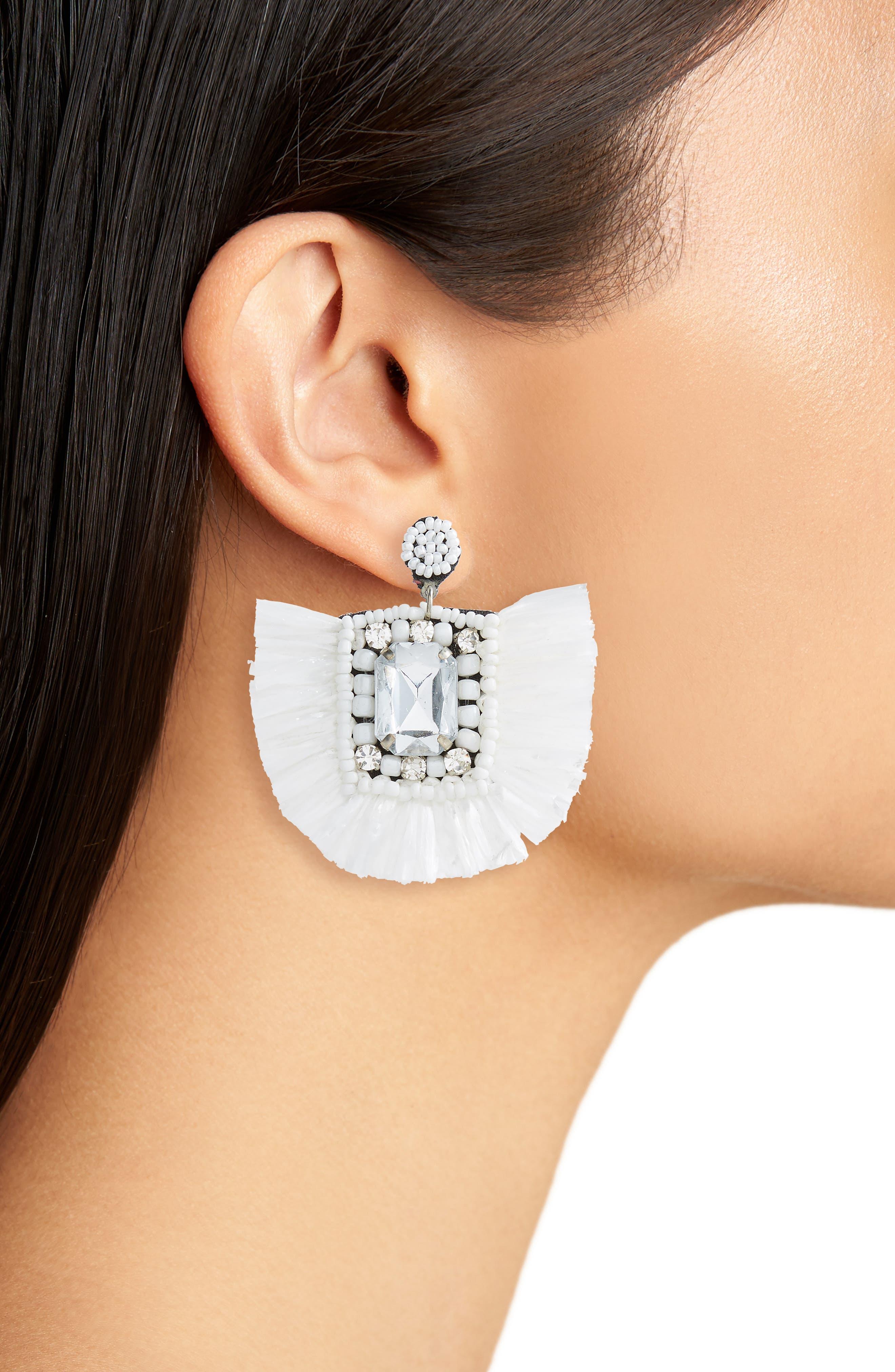 Decor Raffia Earrings,                             Alternate thumbnail 2, color,                             110
