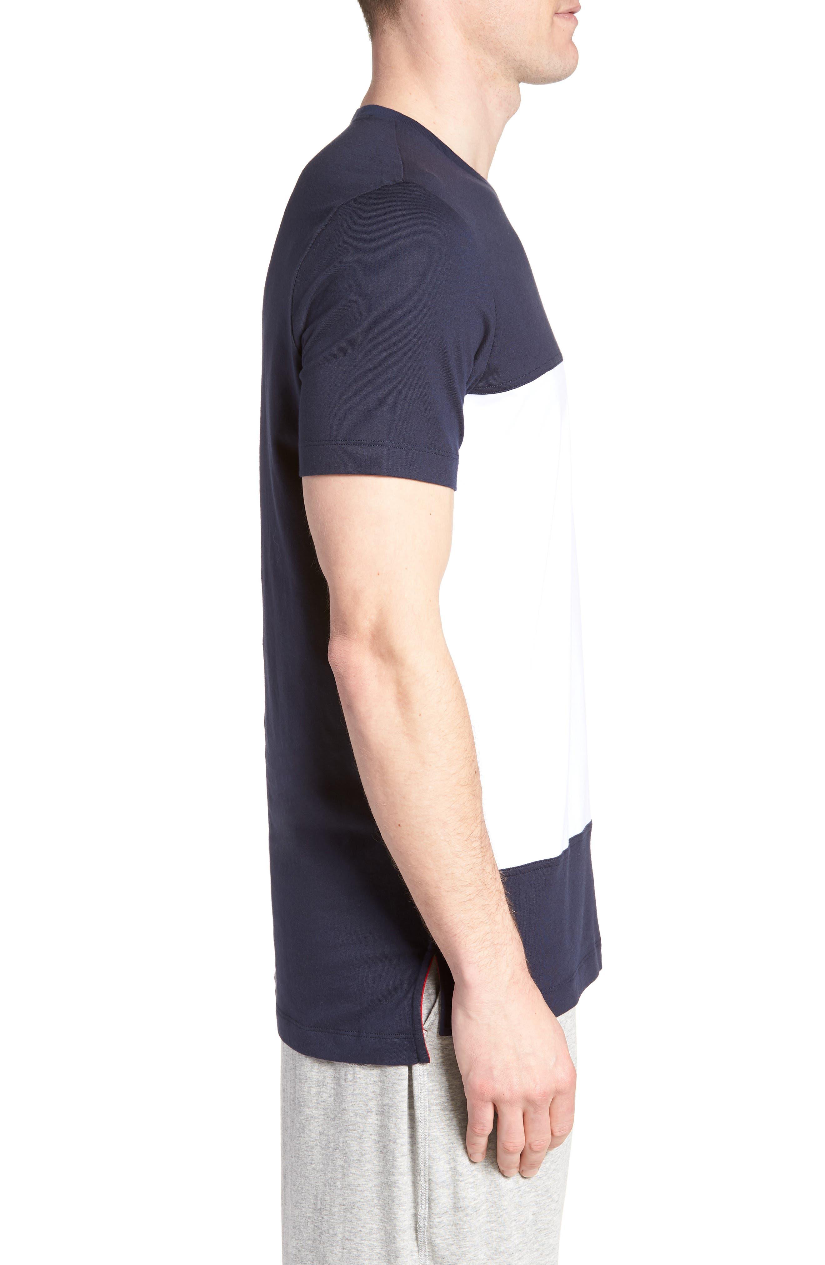 Colorblock T-Shirt,                             Alternate thumbnail 3, color,                             DARK NAVY
