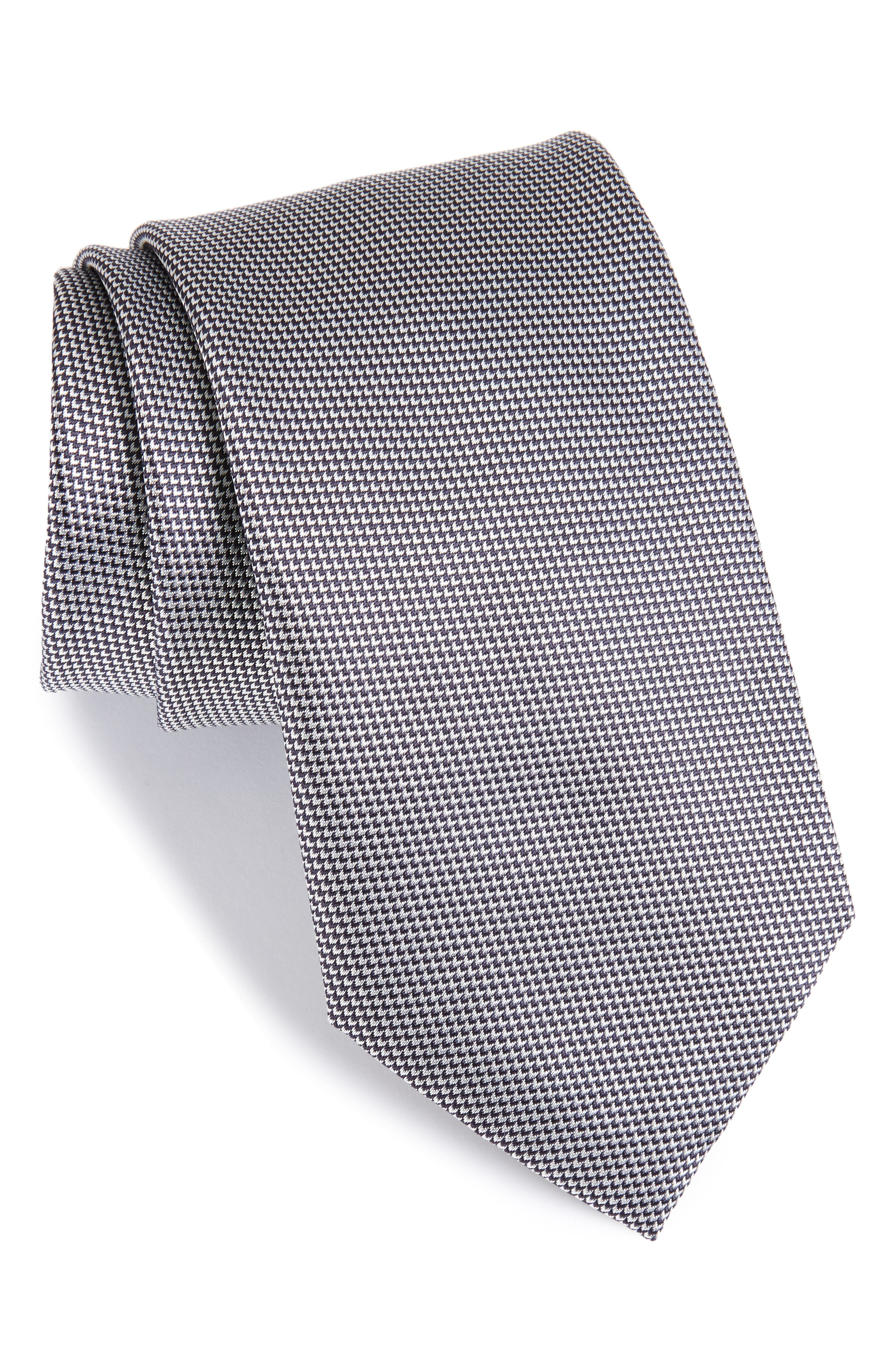 Solid Silk Tie,                         Main,                         color, 020