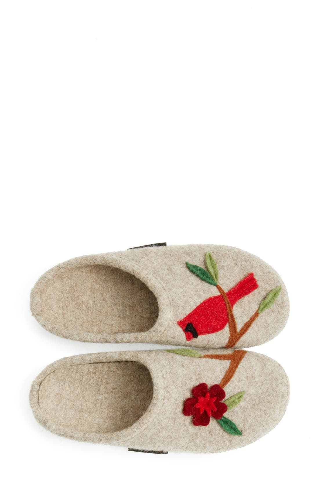 'Angela' Wool Slipper,                             Alternate thumbnail 4, color,