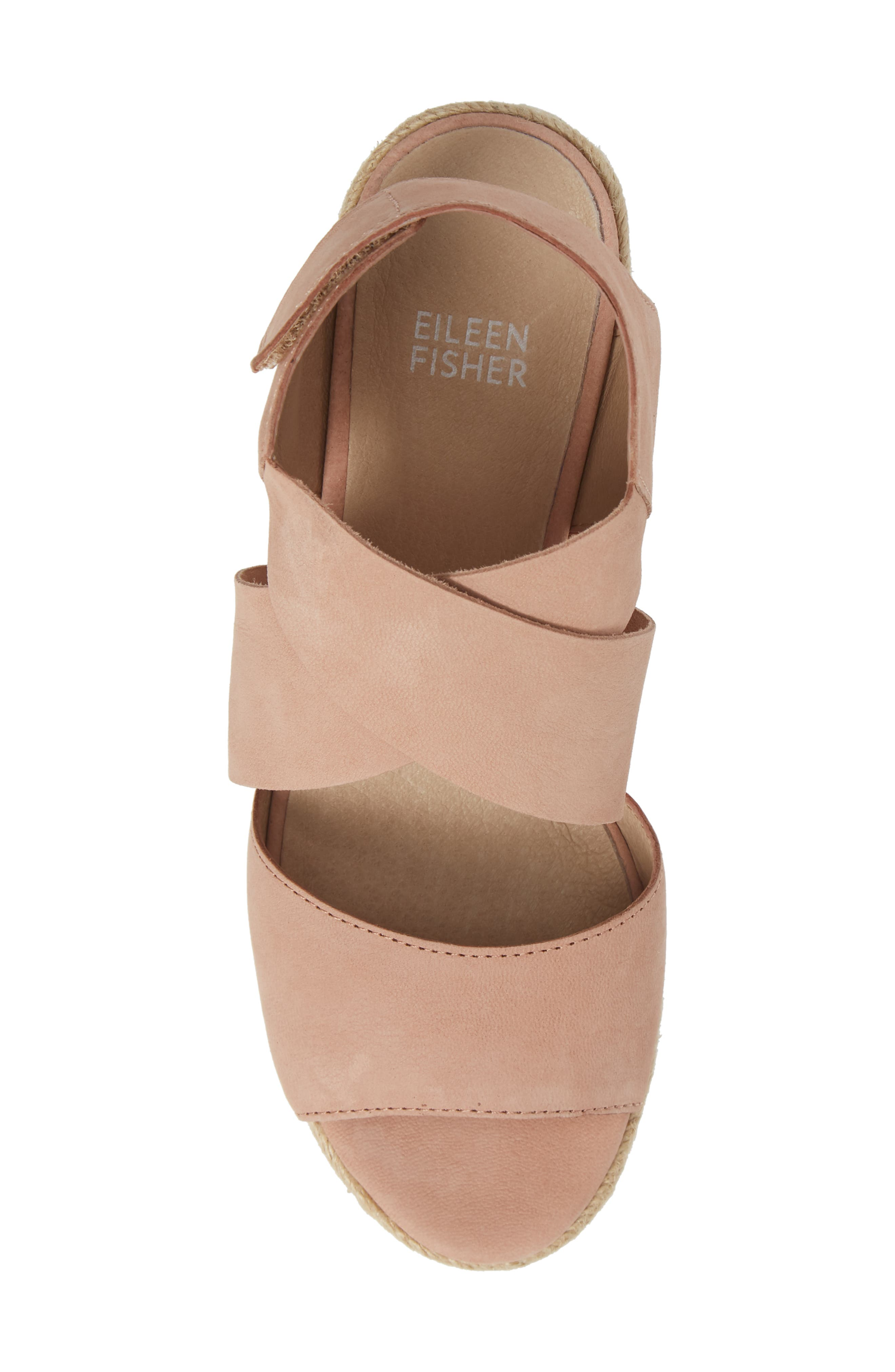 'Willow' Espadrille Wedge Sandal,                             Alternate thumbnail 5, color,                             TOFFEE CREAM NUBUCK