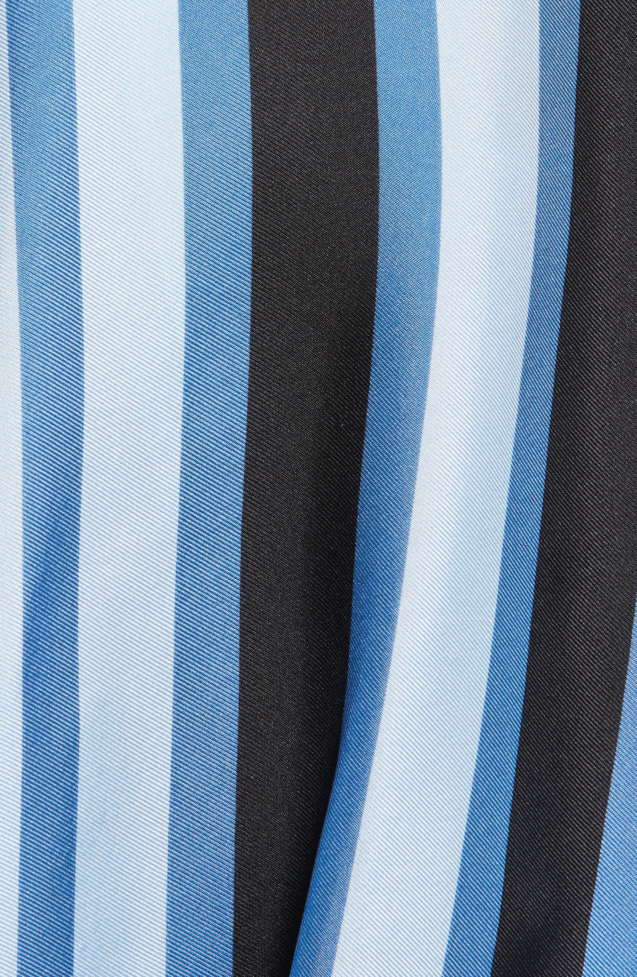 Asymmetrical Stripe Silk Maxi Dress,                             Alternate thumbnail 5, color,                             451
