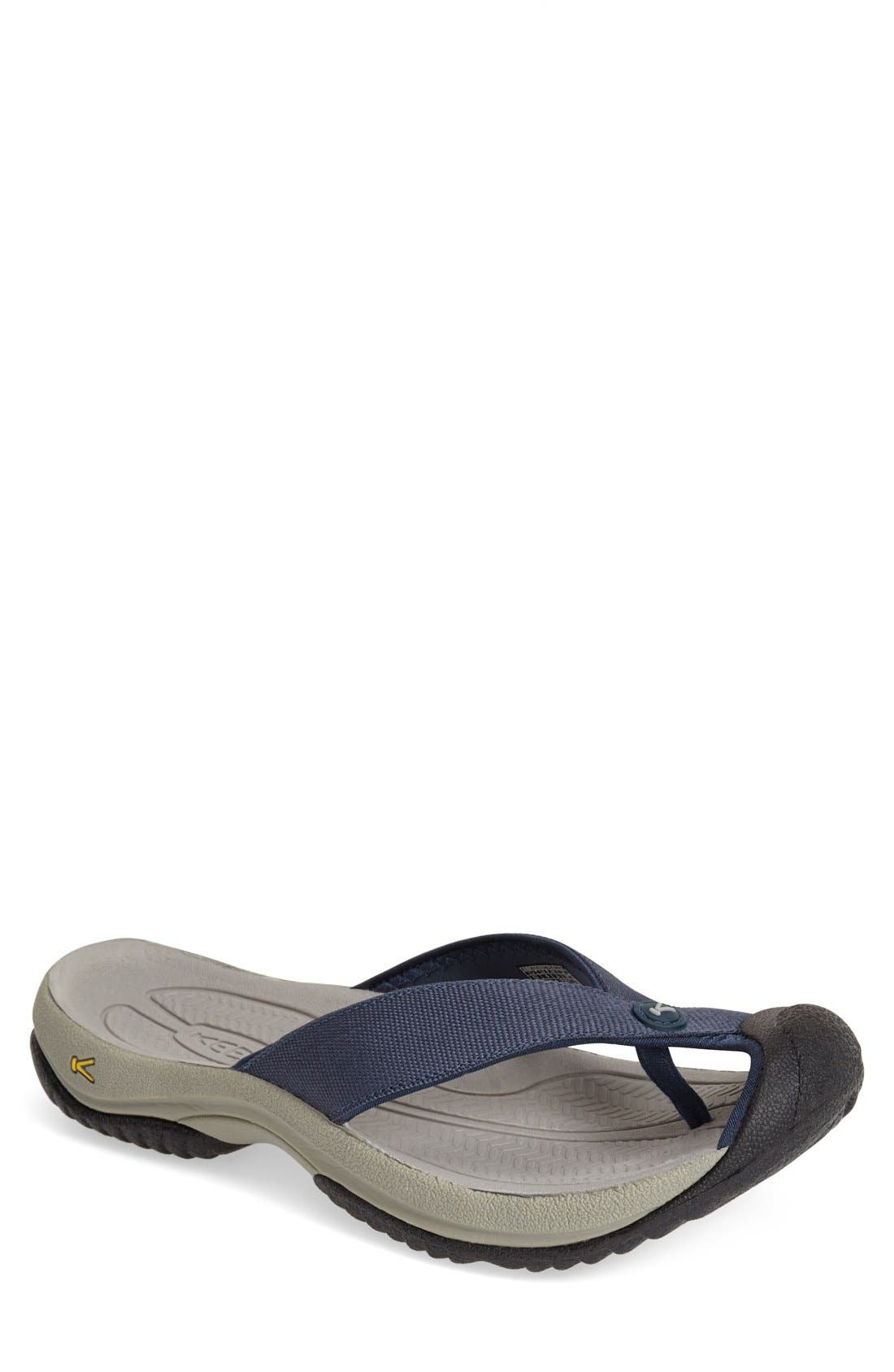 'Waimea H2' Water Thong Sandal,                             Main thumbnail 1, color,                             MIDNIGHT NAVY/ NEUTRAL