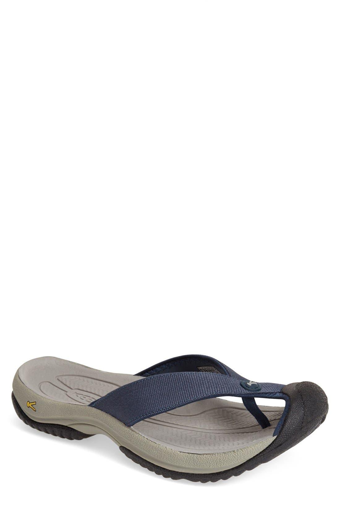 'Waimea H2' Water Thong Sandal,                         Main,                         color, MIDNIGHT NAVY/ NEUTRAL