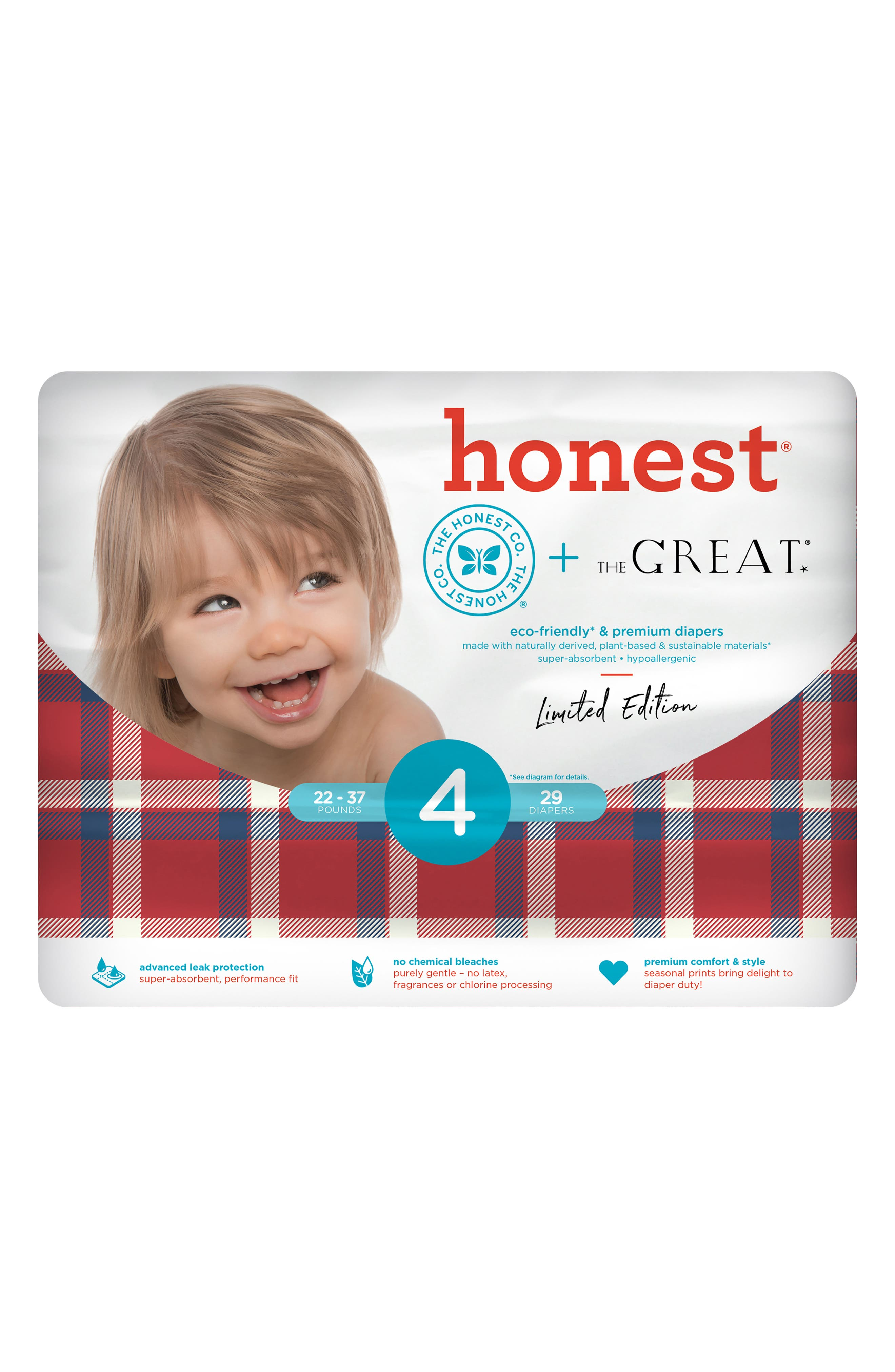 x THE GREAT. The Camper Plaid Diapers,                             Alternate thumbnail 2, color,                             400
