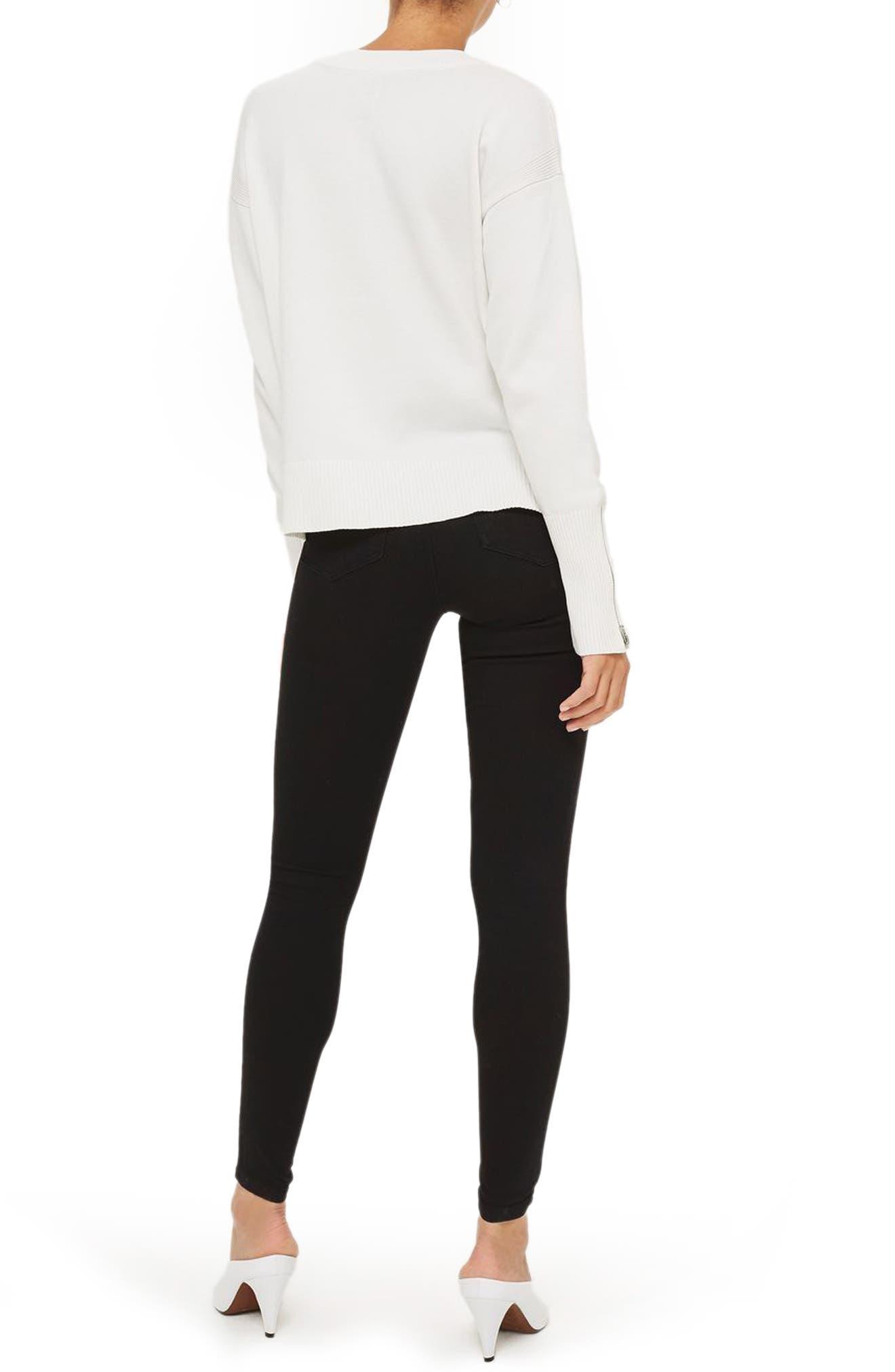 Joni High Waist Skinny Jeans,                             Alternate thumbnail 2, color,                             BLACK