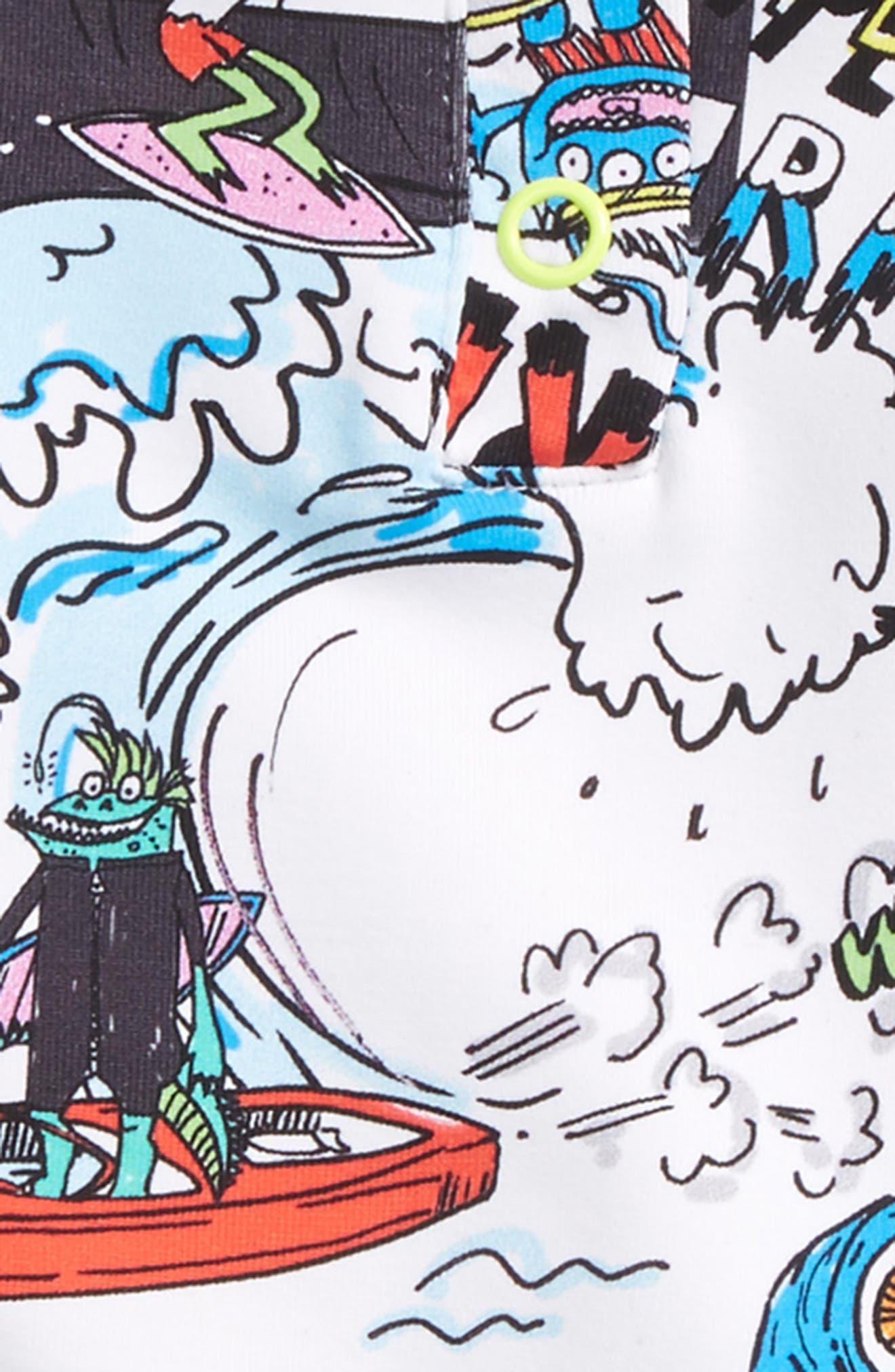Boppers Cartoon Print Two-Piece Rashguard Swimsuit,                             Alternate thumbnail 2, color,