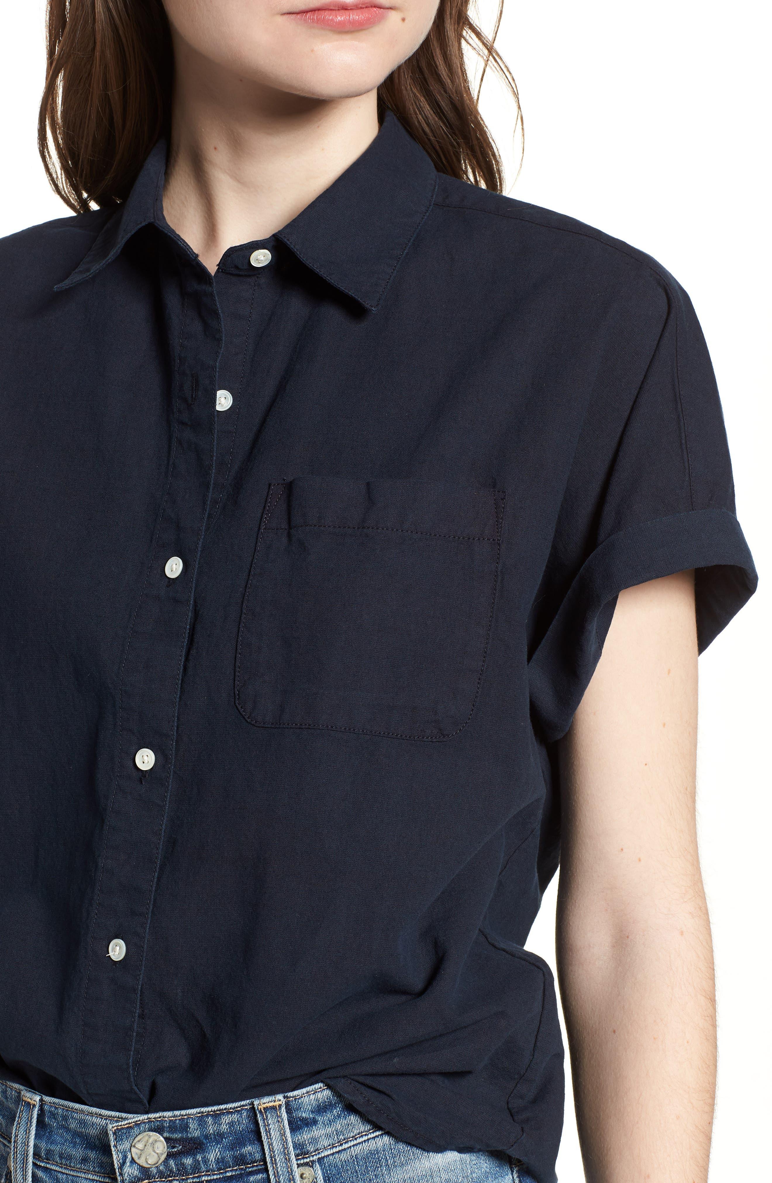 Hadley Shirt,                             Alternate thumbnail 4, color,                             SULFUR DARK COVE