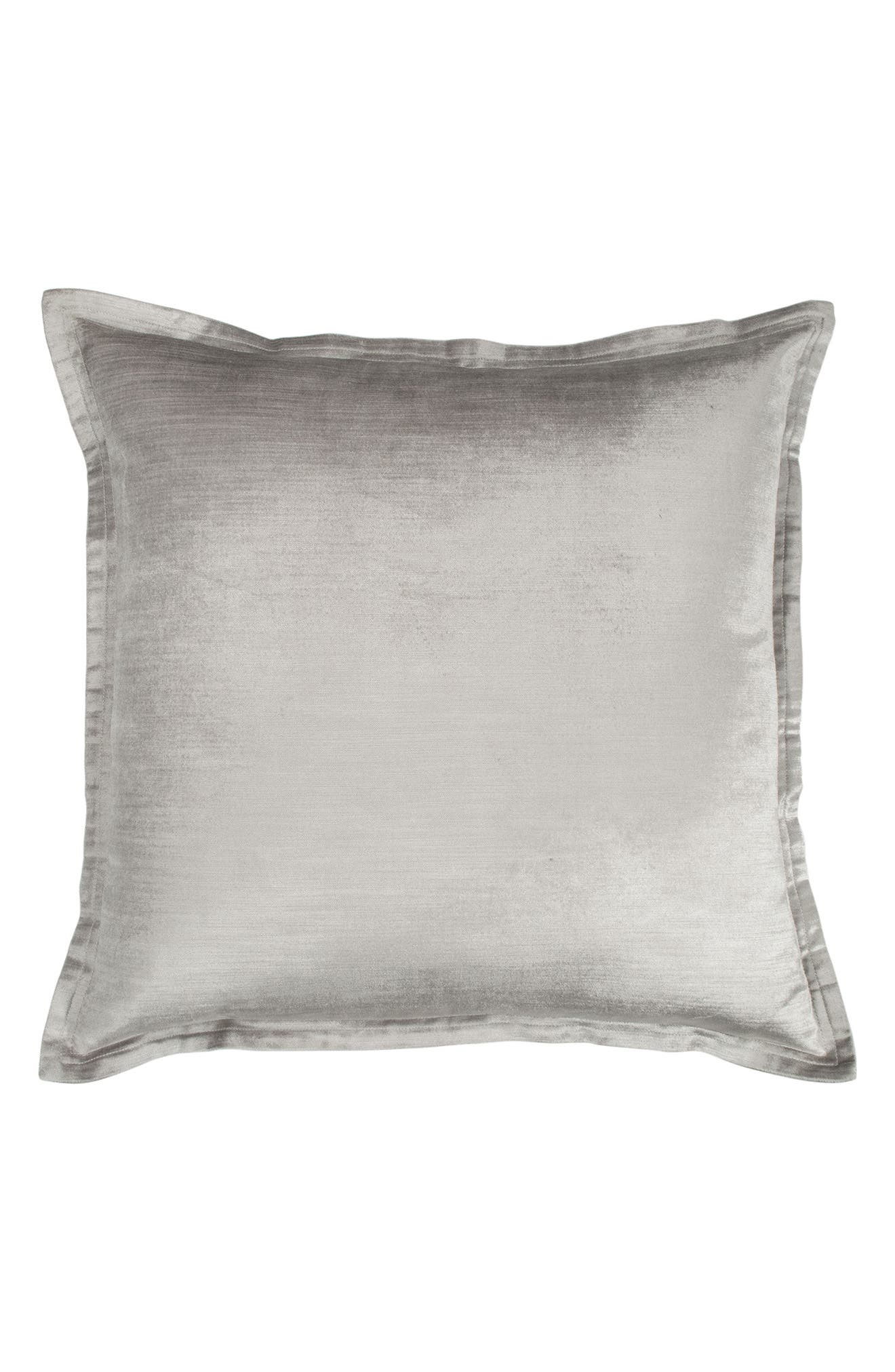 Collection Velvet Accent Pillow,                             Main thumbnail 1, color,                             SILVER
