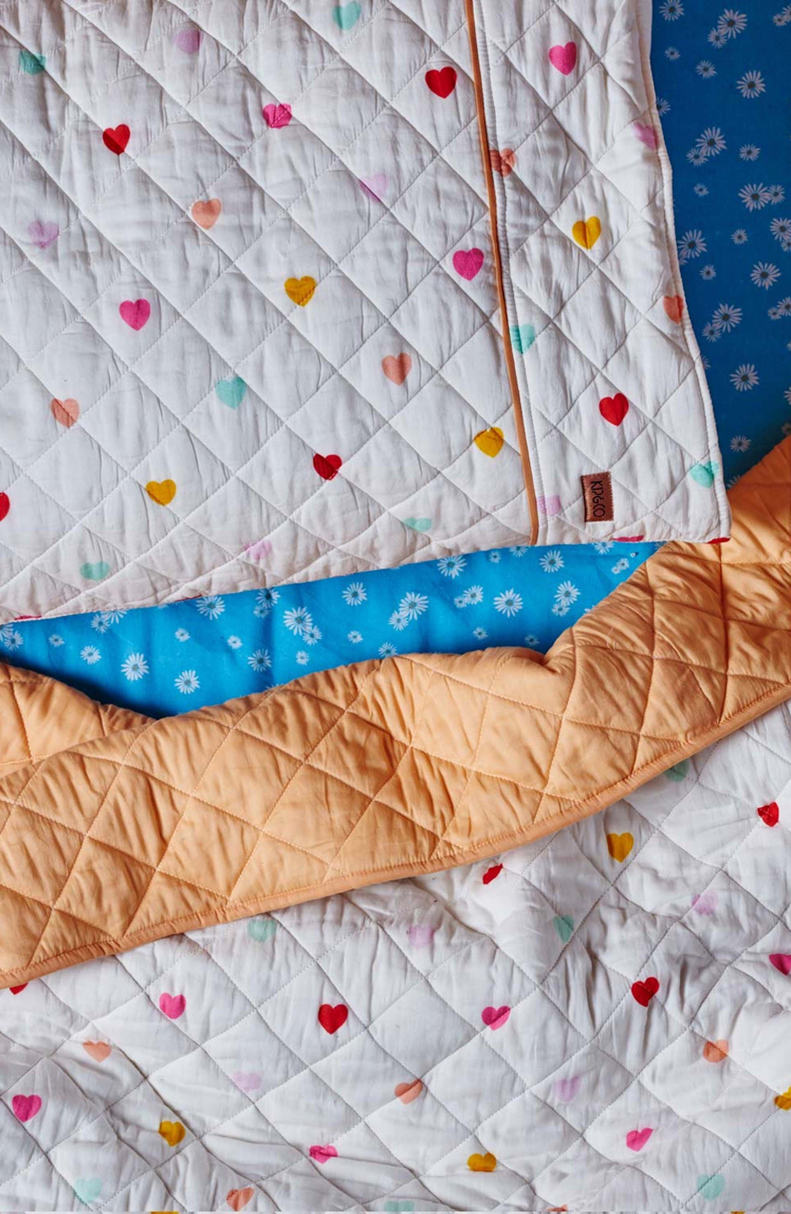 I Heart You Quilted Cotton Pillowcase,                             Alternate thumbnail 2, color,                             MULTI