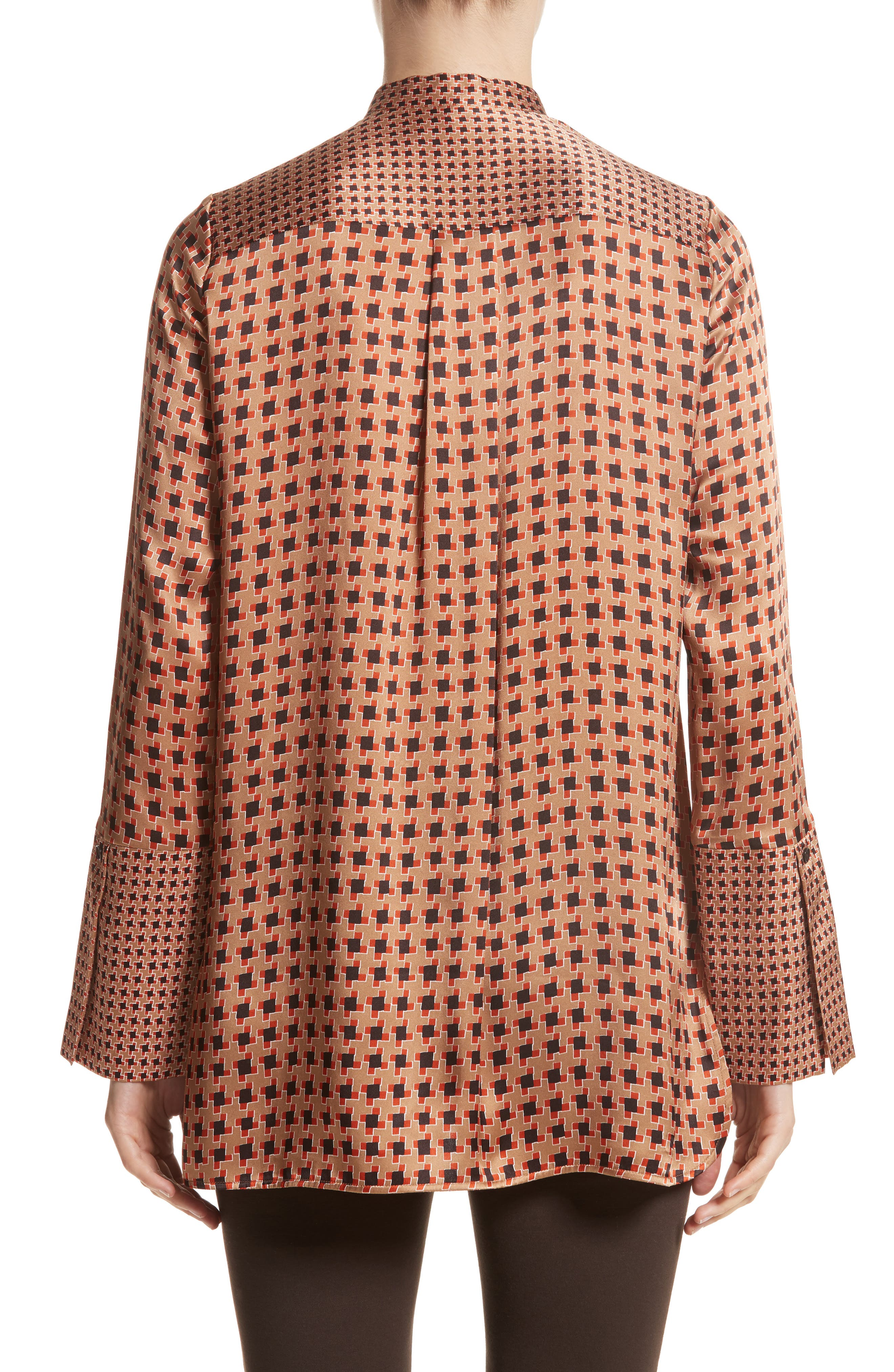 Desra Highgate Houndstooth Silk Tunic,                             Alternate thumbnail 2, color,