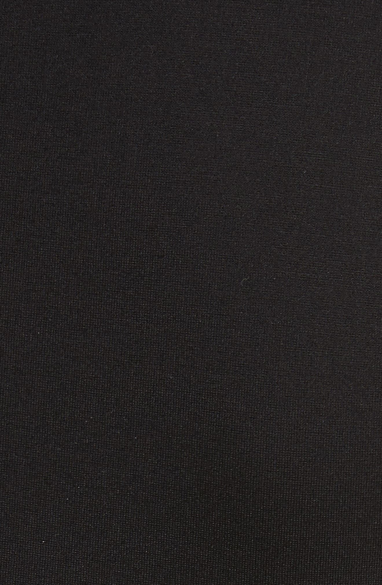 Codi Embroidered Scallop A-Line Dress,                             Alternate thumbnail 5, color,                             001