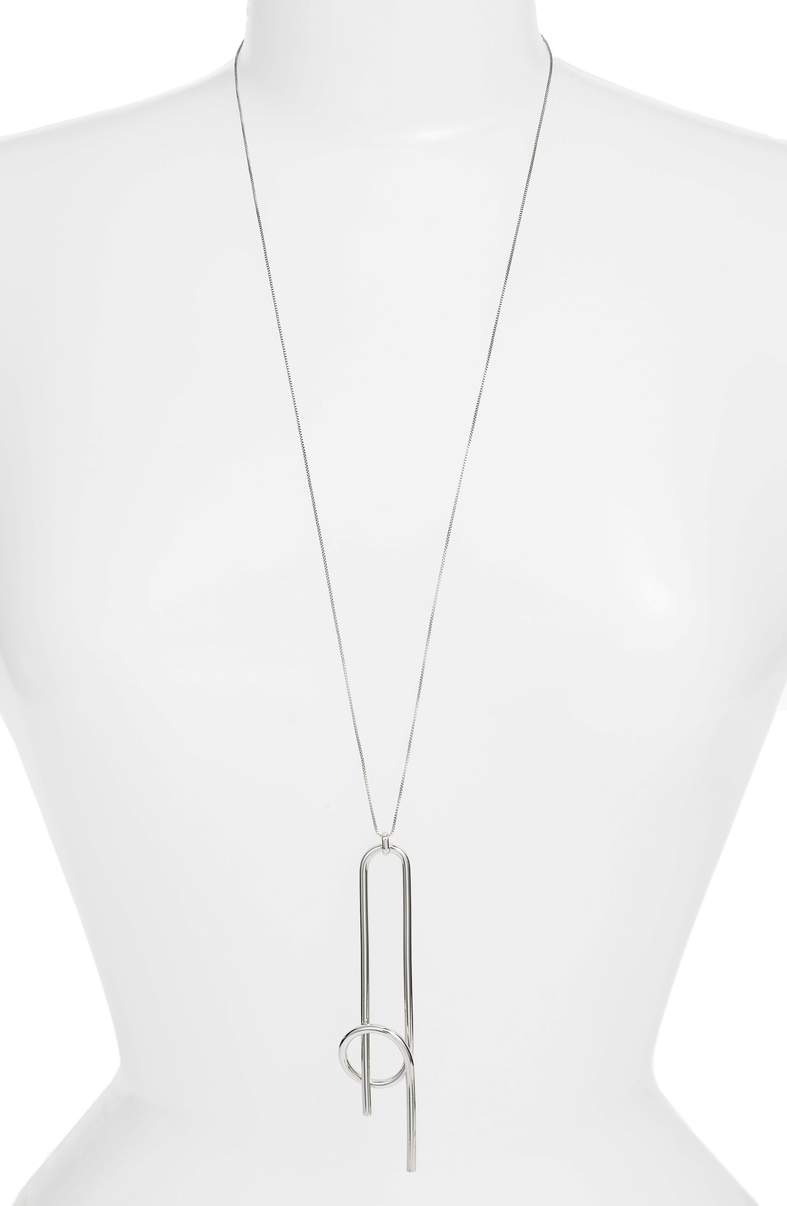 Otis Pendant Necklace,                         Main,                         color, SILVER
