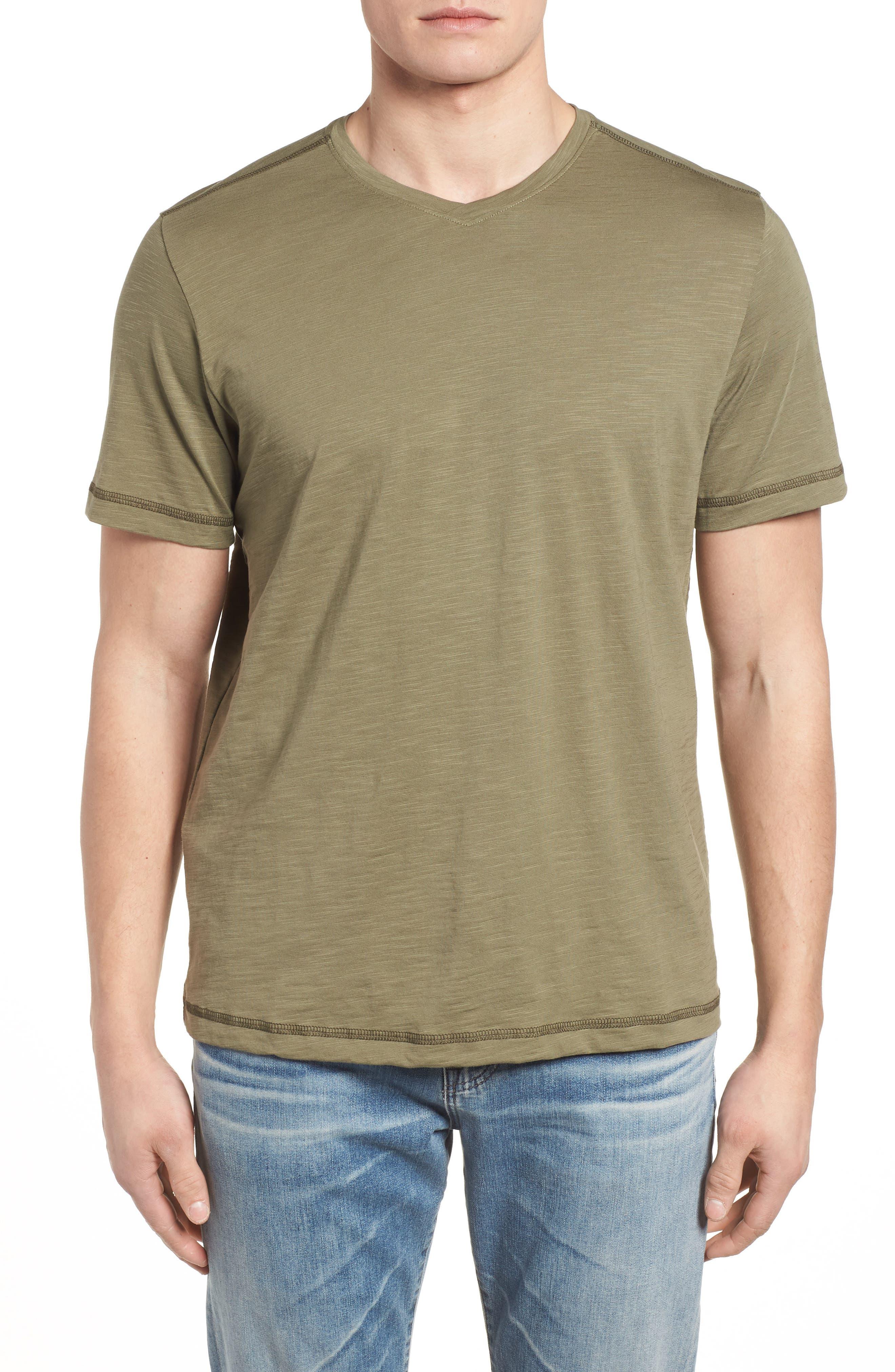 Portside Palms V-Neck T-Shirt,                             Main thumbnail 4, color,