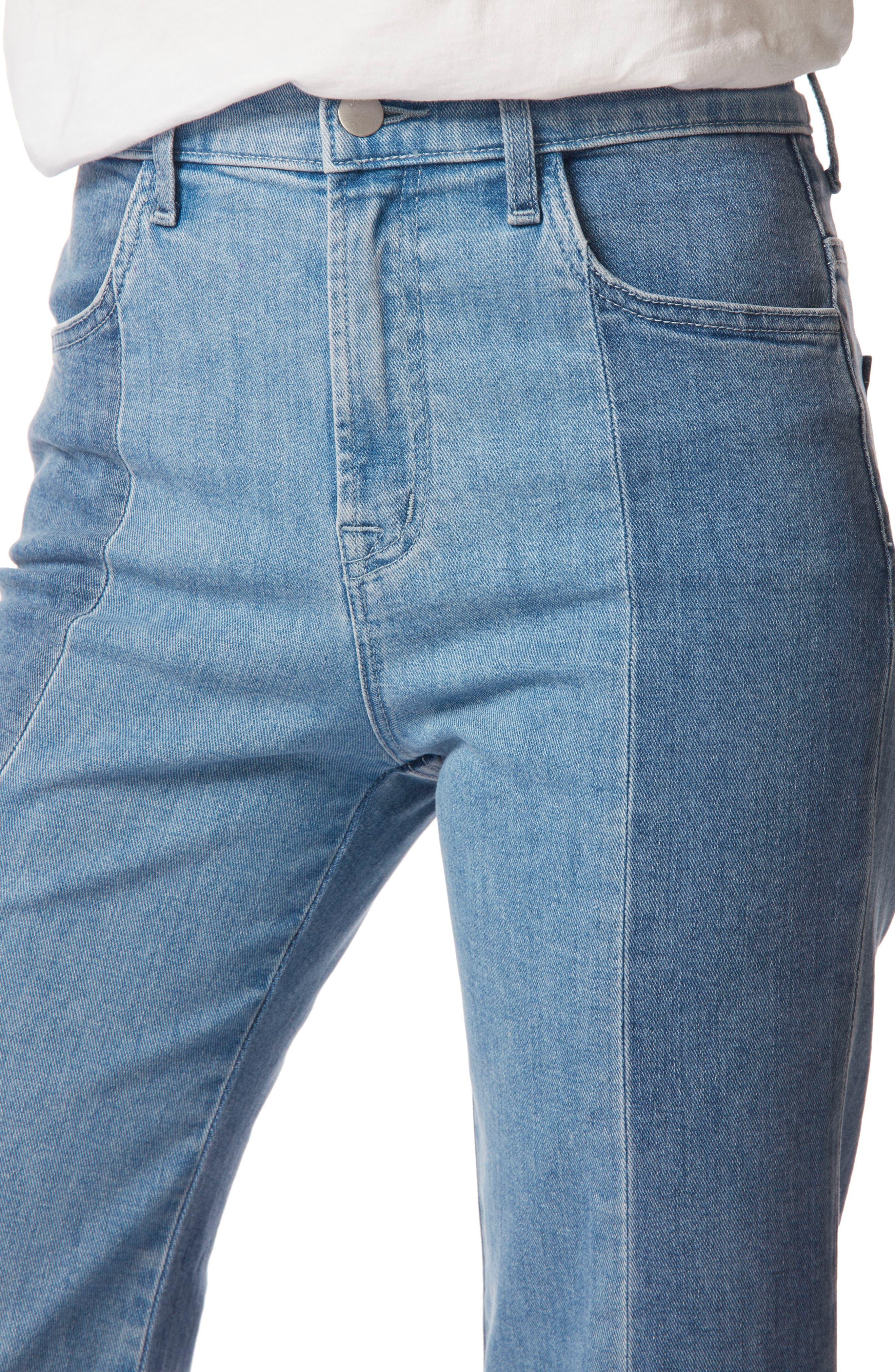 Joan High Waist Crop Wide Leg Jeans,                             Alternate thumbnail 4, color,                             457