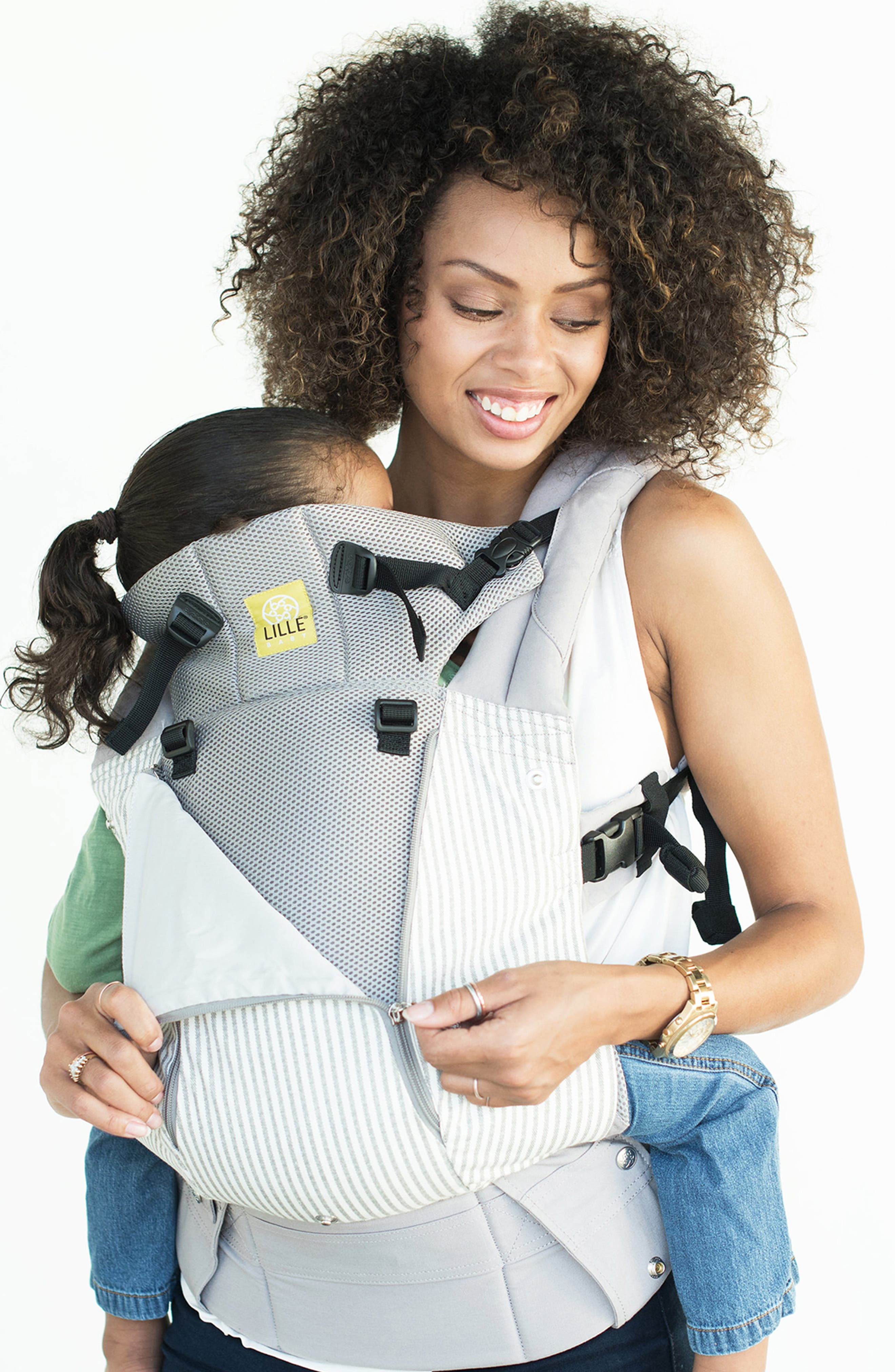 LILLEBABY,                             All Seasons - Silver Lining Baby Carrier,                             Alternate thumbnail 3, color,                             SILVER LINING