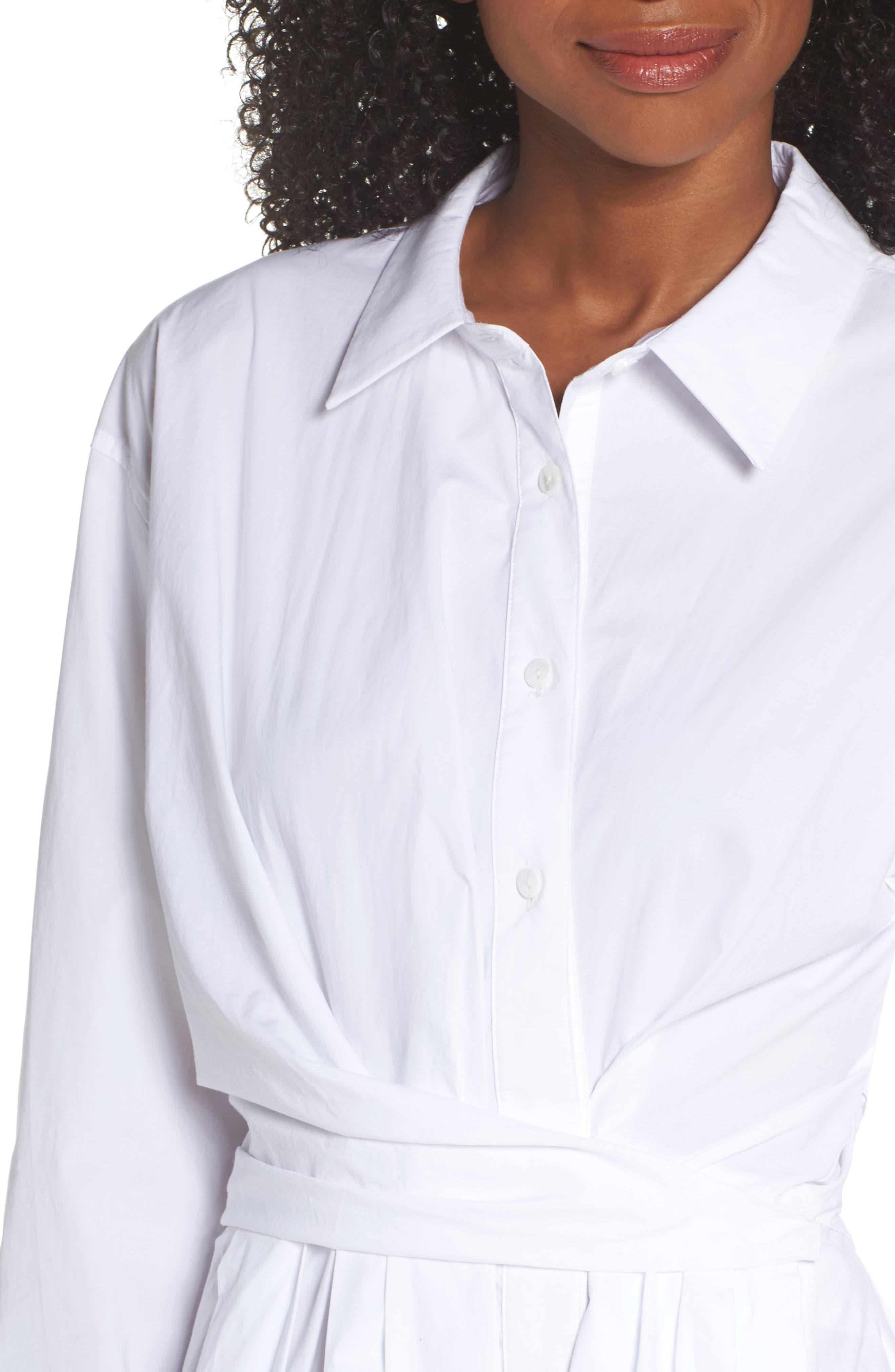 Tiffany Cotton Shirtdress,                             Alternate thumbnail 4, color,
