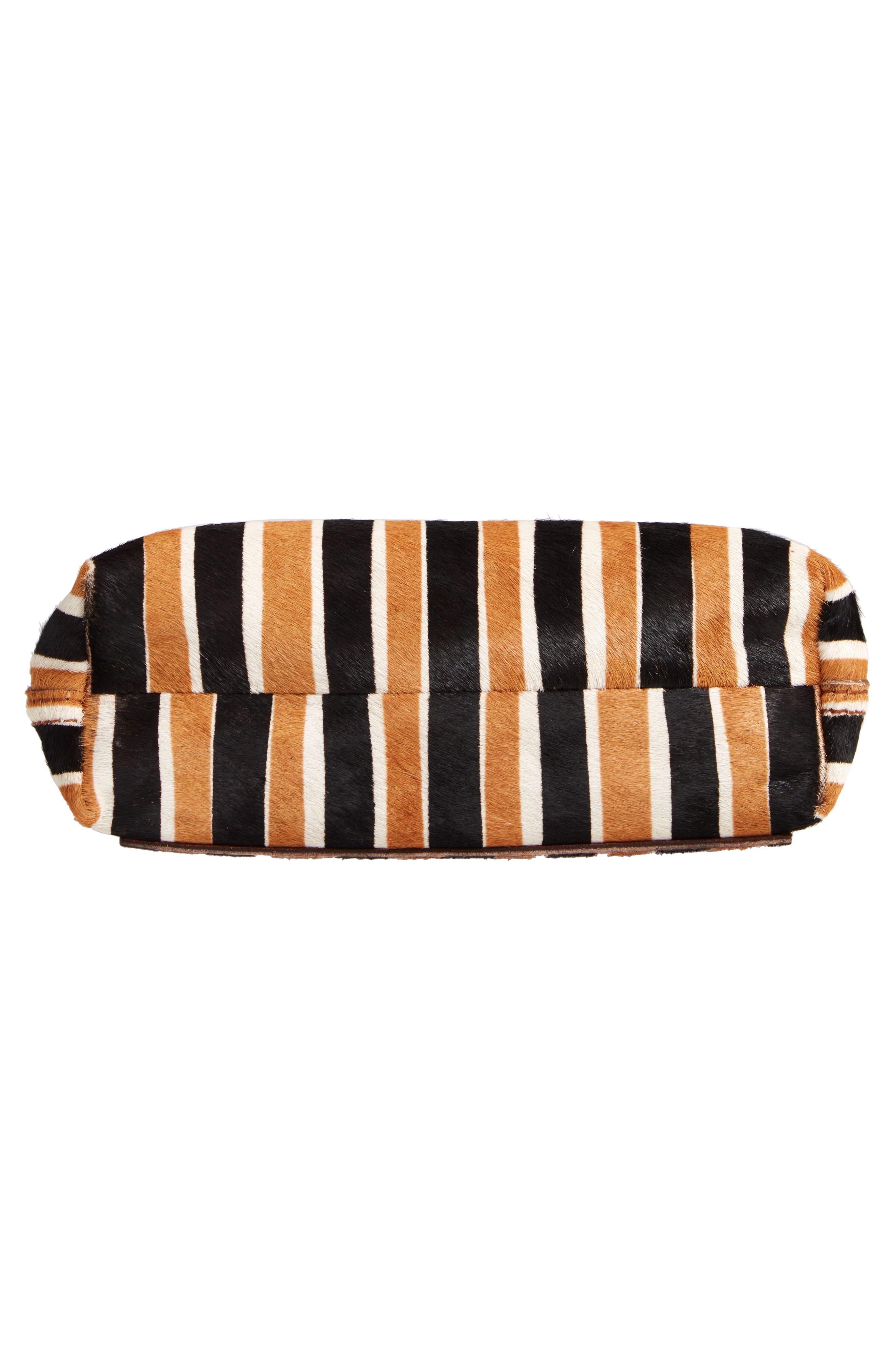 The Small Transport Genuine Calf Hair Crossbody Bag,                             Alternate thumbnail 6, color,                             ACORN MULTI