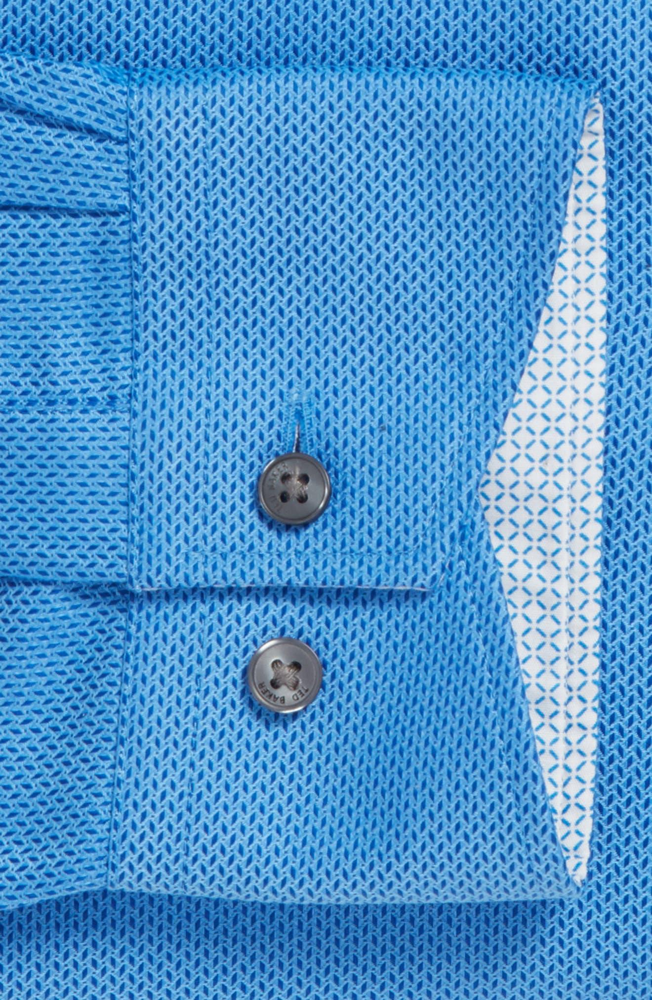 Endurance Trim Fit Geometric Dress Shirt,                             Alternate thumbnail 6, color,