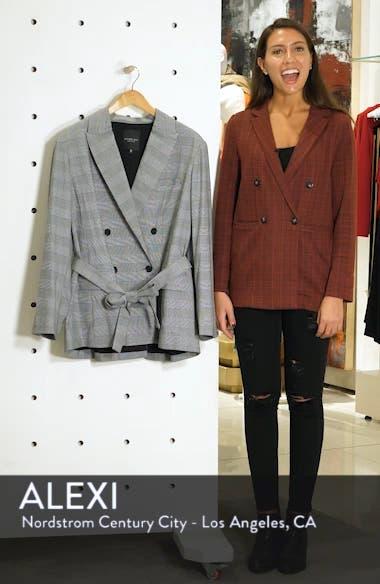 Rachel Roy Windowpane Plaid Tie Front Blazer, sales video thumbnail