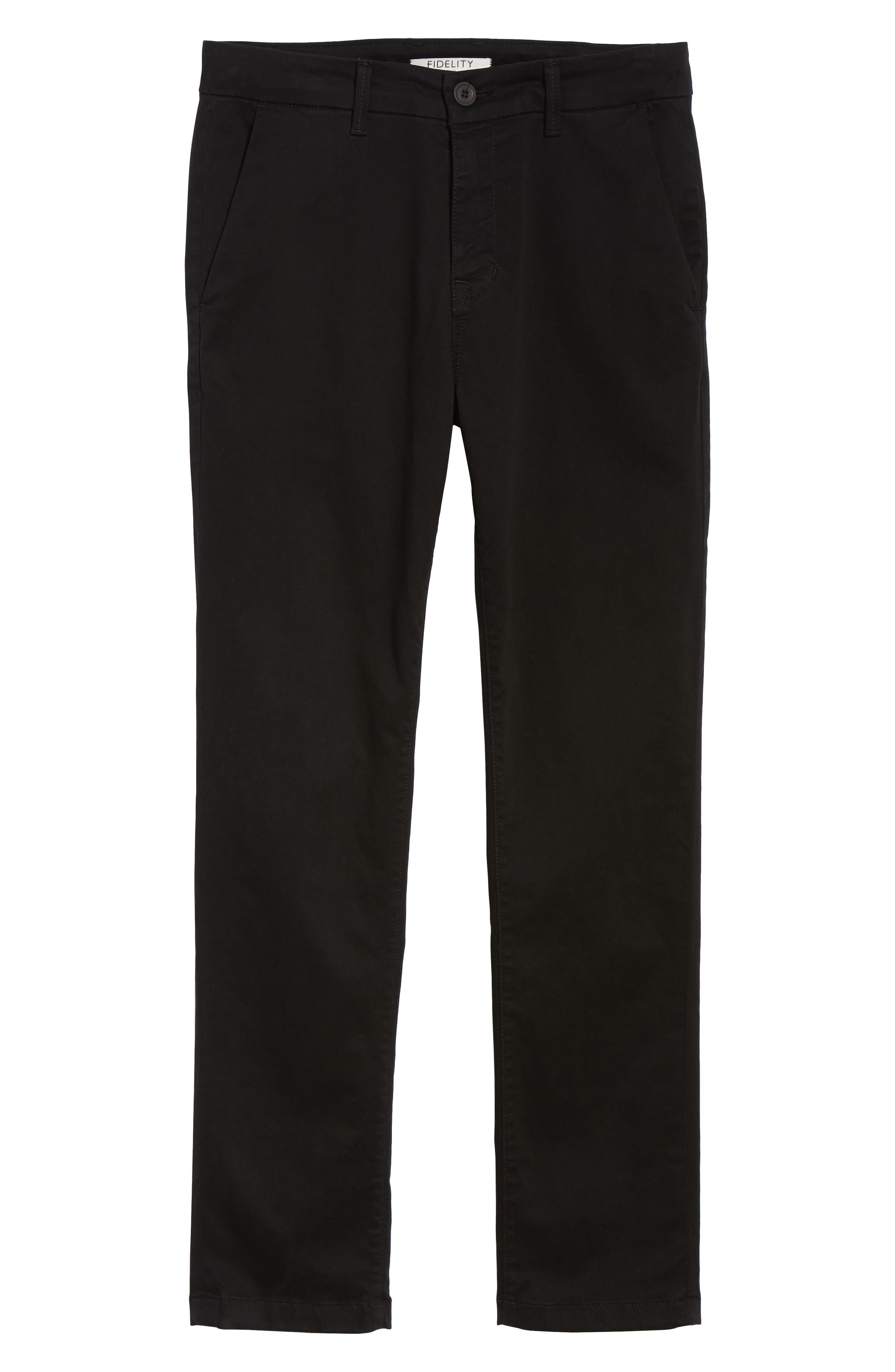 FIDELITY DENIM,                             Weekend Slim Fit Chino Pants,                             Alternate thumbnail 6, color,                             001