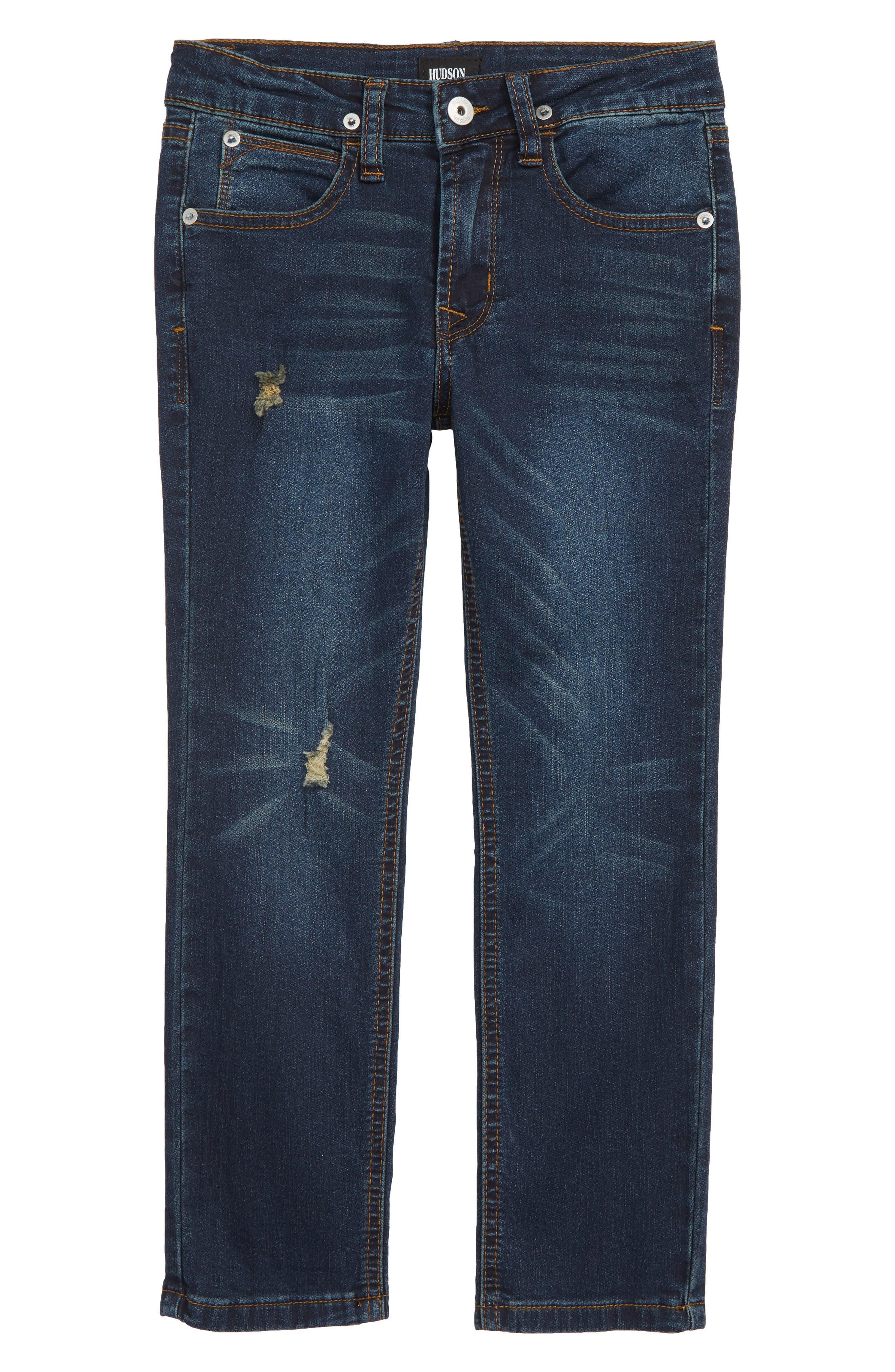 Jagger Slim Fit Straight Leg Jeans,                             Main thumbnail 1, color,                             RIPPED RIPEDO